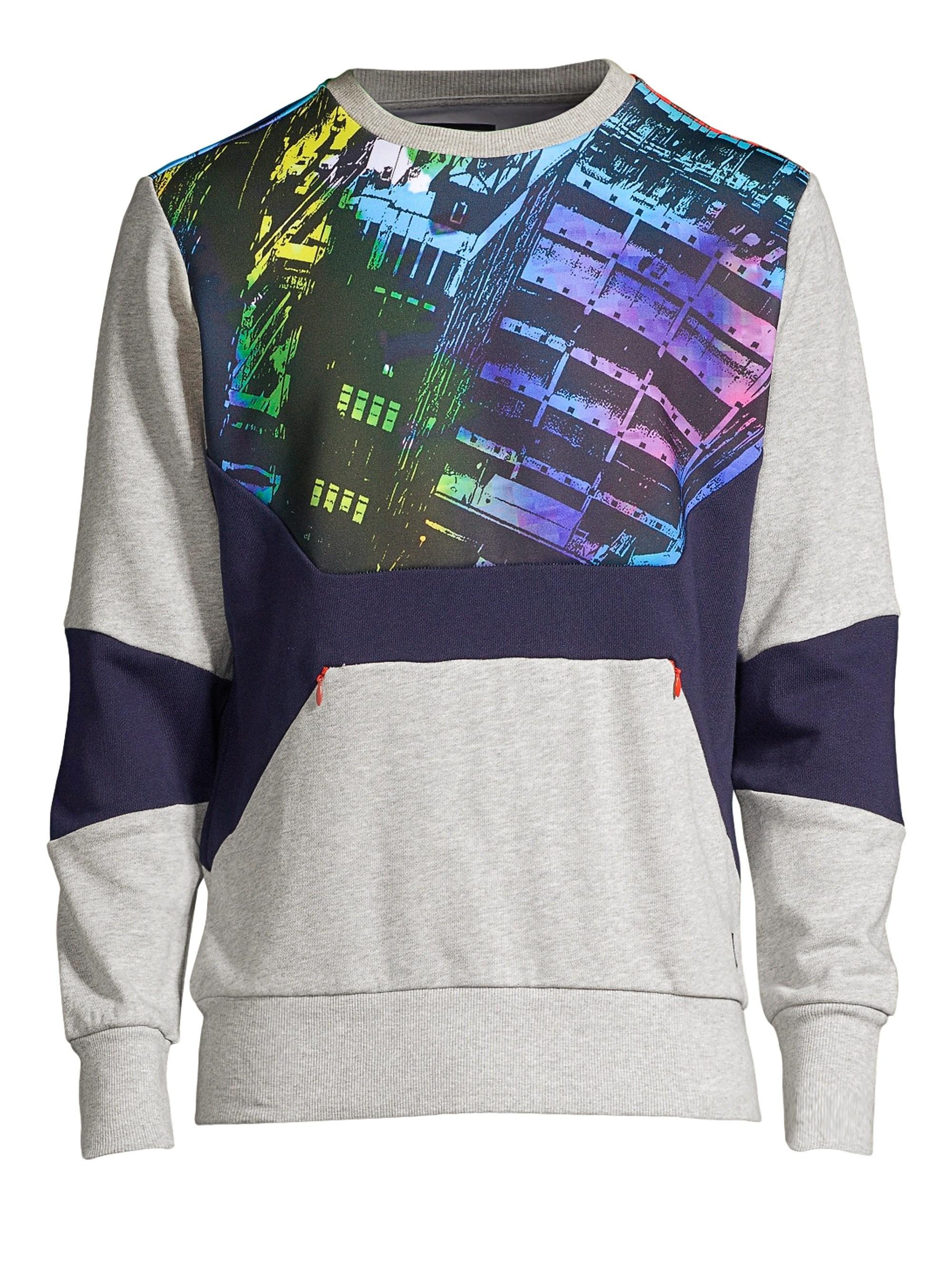 55a31e1f6b06 Lyst - PRPS Men s Graphic Crewneck Sweatshirt - Heather Grey - Size ...