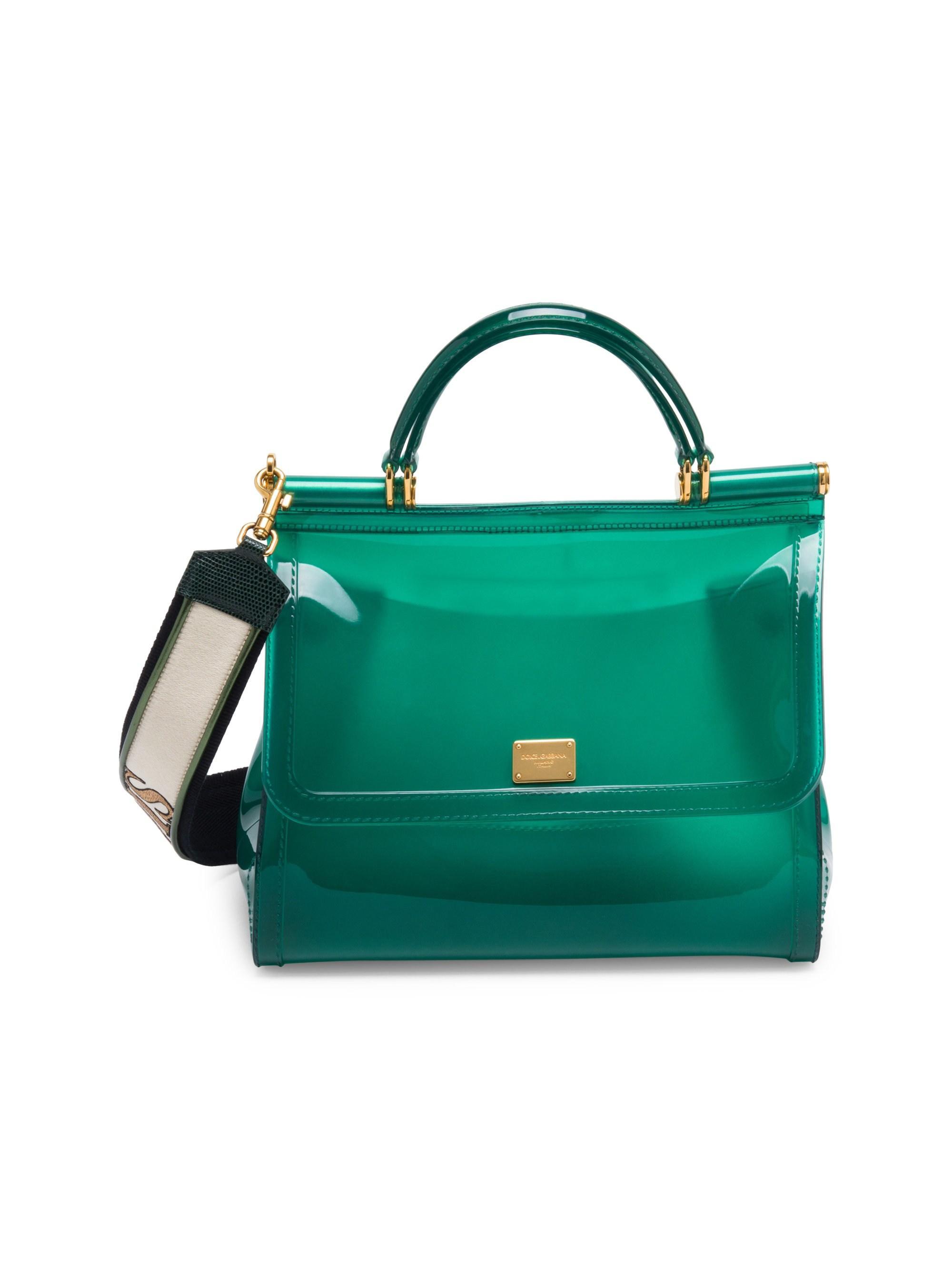 Lyst - Dolce   Gabbana Sicily Pvc Top Handle Bag in Green 944caac80c