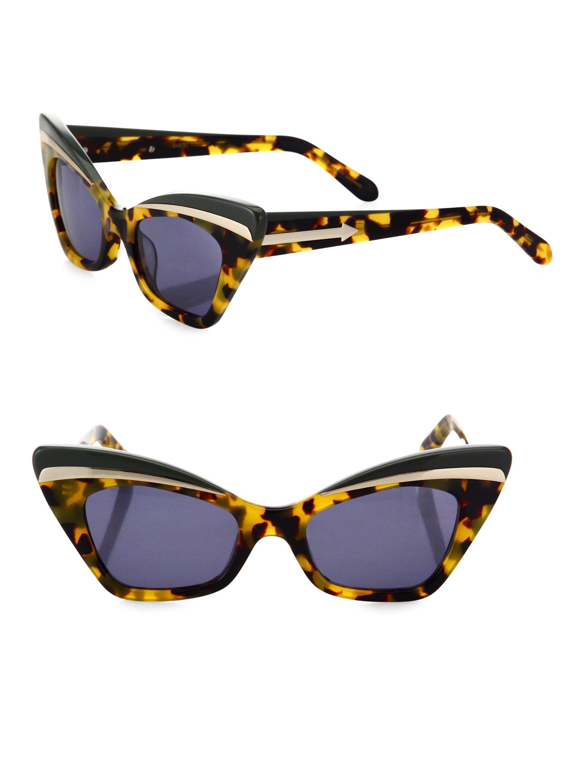 Trópicos Agravio Loco Gafas De Sol De Ojos De Gato Karen Walker Gafas wqzC4BfUIz