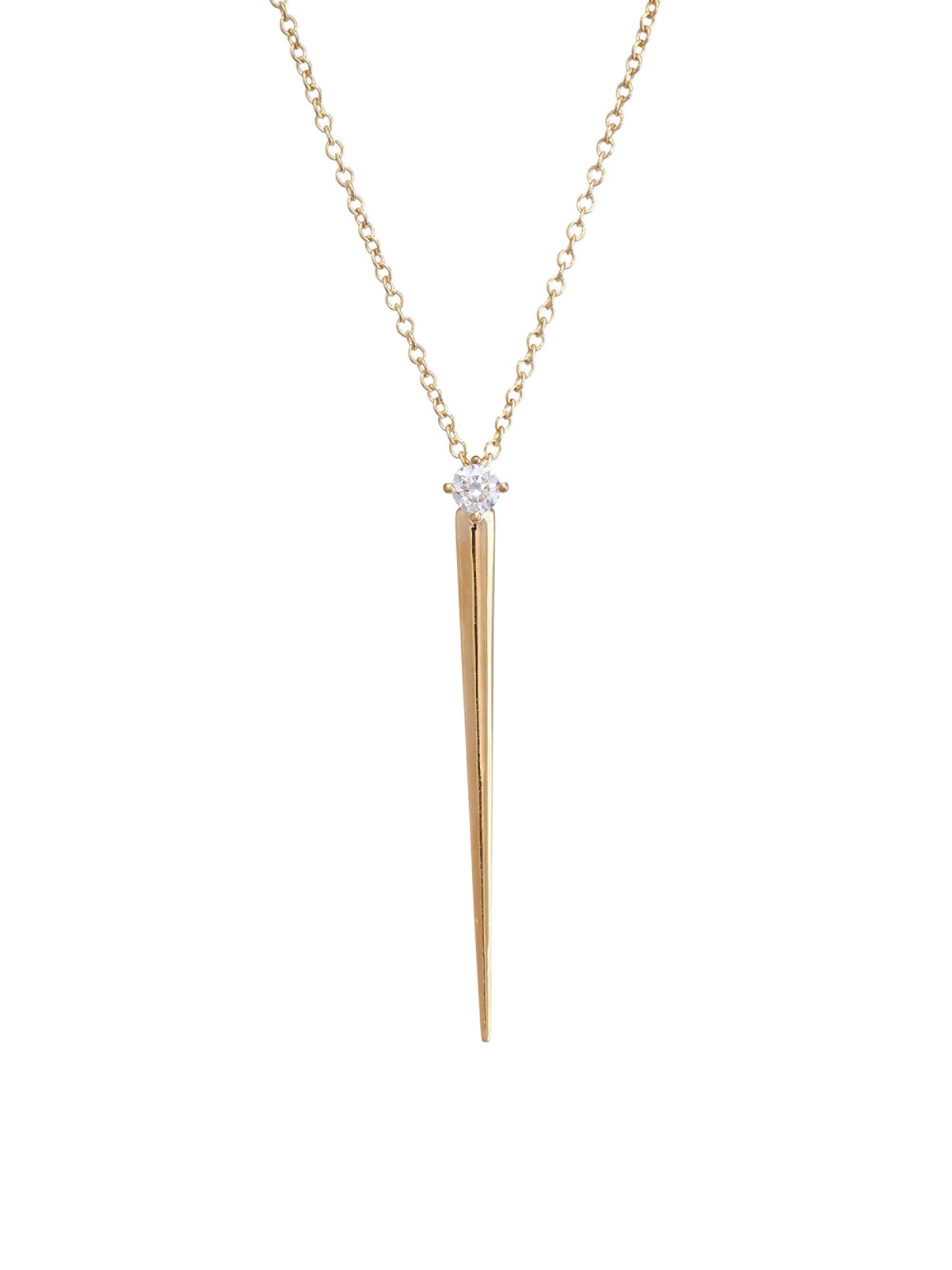 Aria V Yellow Gold Necklace Melissa Kaye 1WxZAfhxz
