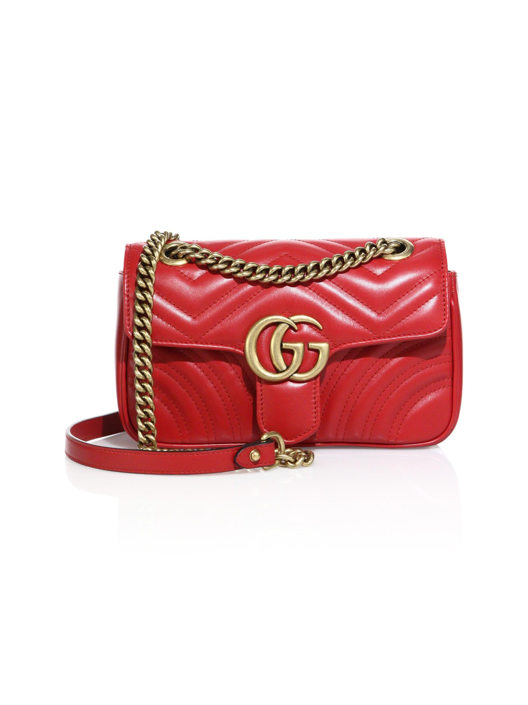 be192a8b843c Gucci Red Small GG Marmont 20 Bag Chanelhandbags Chanel