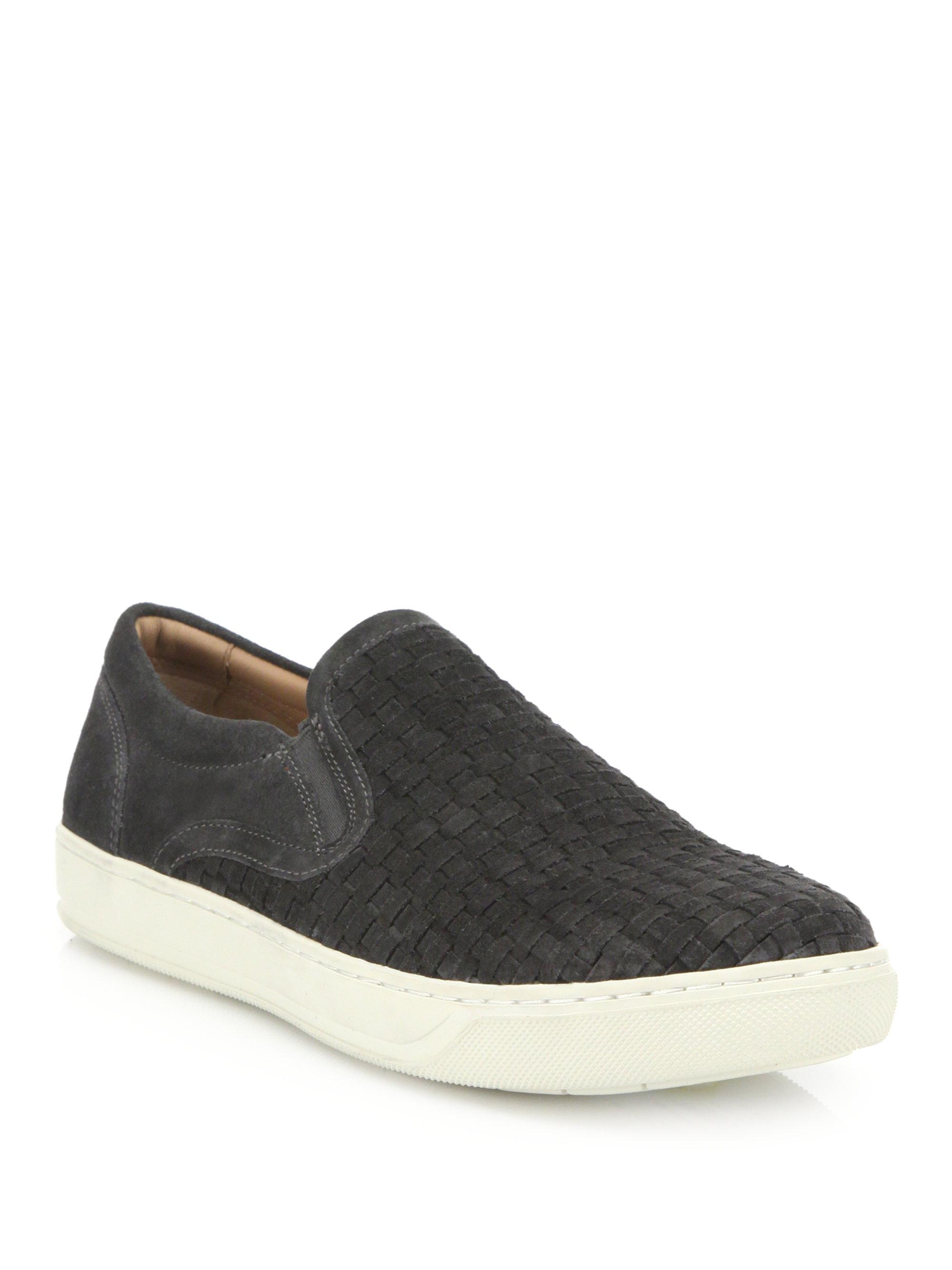 Vince Woven Suede Slip-On Sneakers
