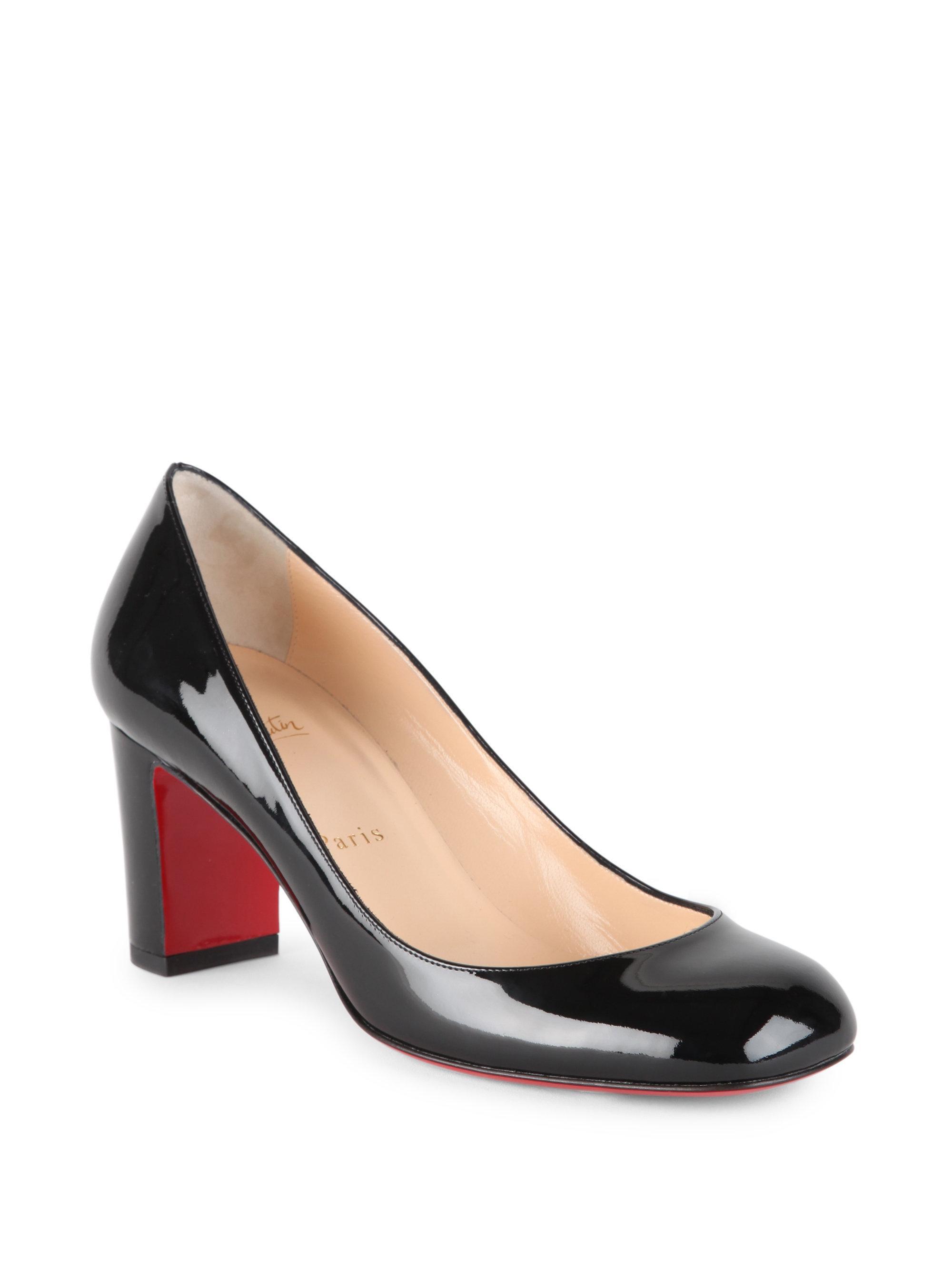 f7c62ffdc50 Lyst - Christian Louboutin Cadrilla 70 Patent Leather Block Heel ...