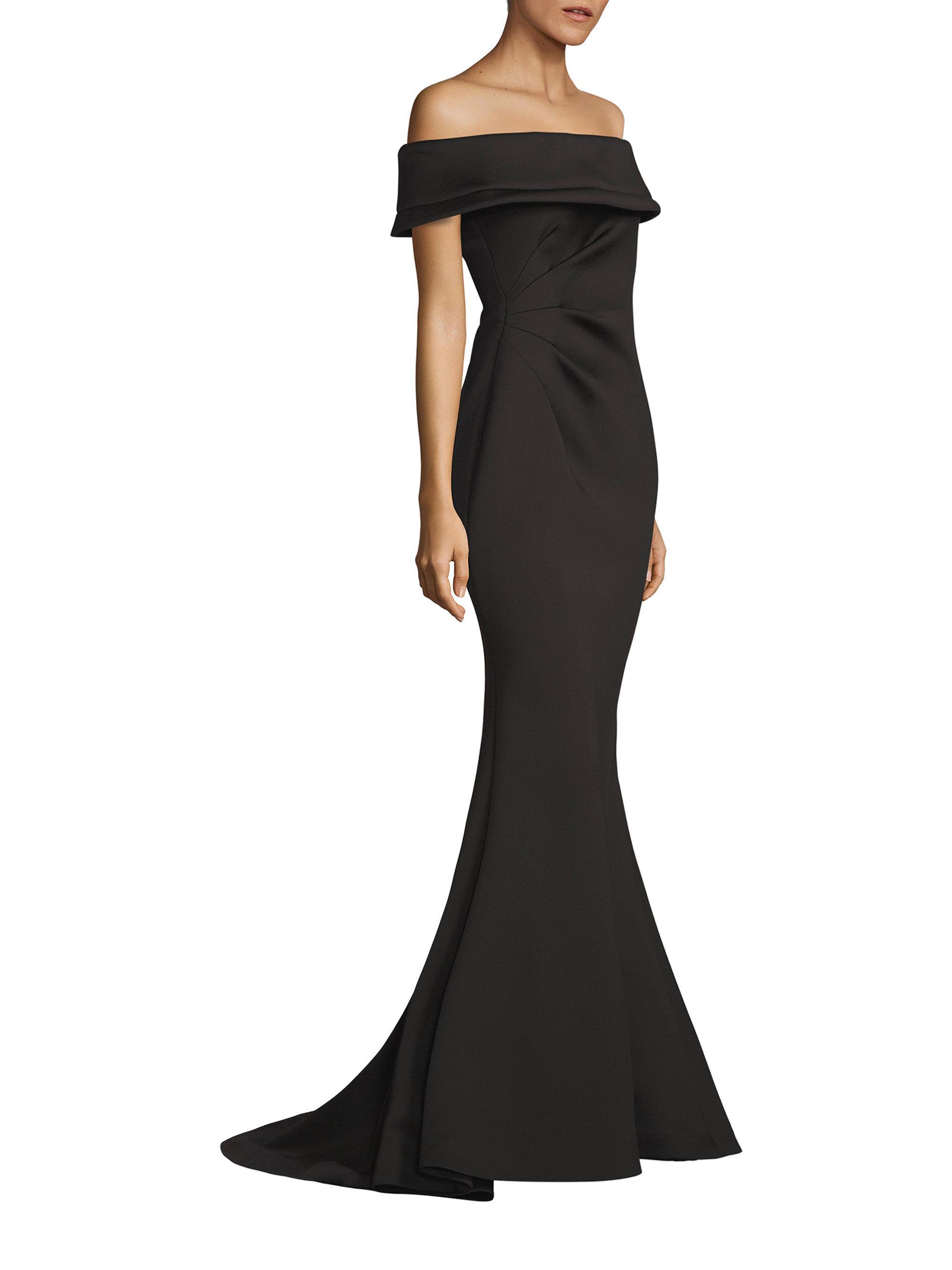 Lyst - Jovani Scuba Evening Gown in Black
