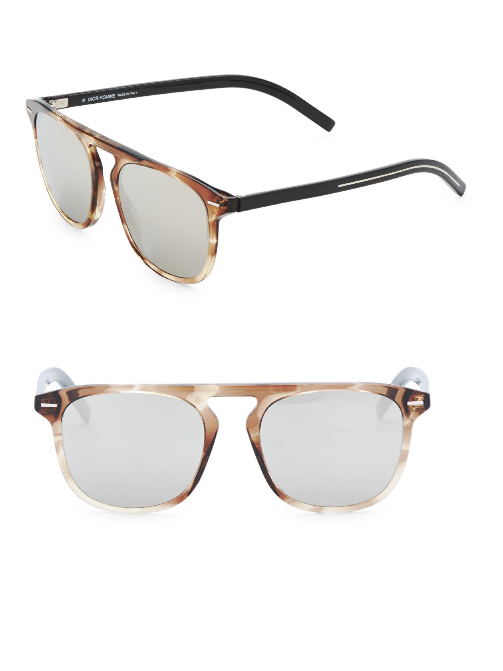 daa4e48719968 Dior Homme Black Tie 24 52mm Square Sunglasses in Gray for Men - Lyst