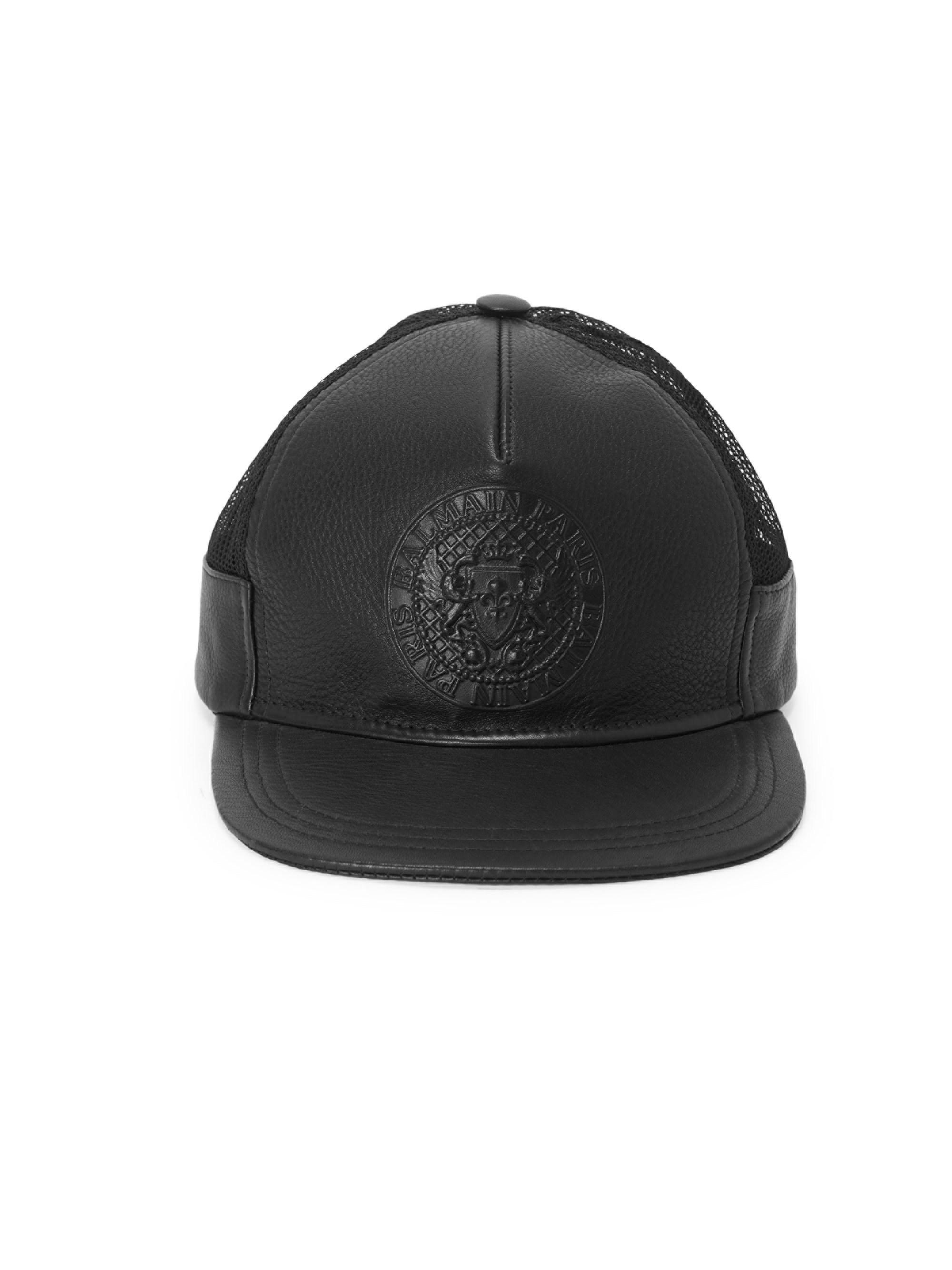 View fullscreen online store  Balmain - Black Logo Crest Embossed Trucker  Hat for Men - Lyst. View fullscreen timeless  Givenchy ... c19d50e6e211