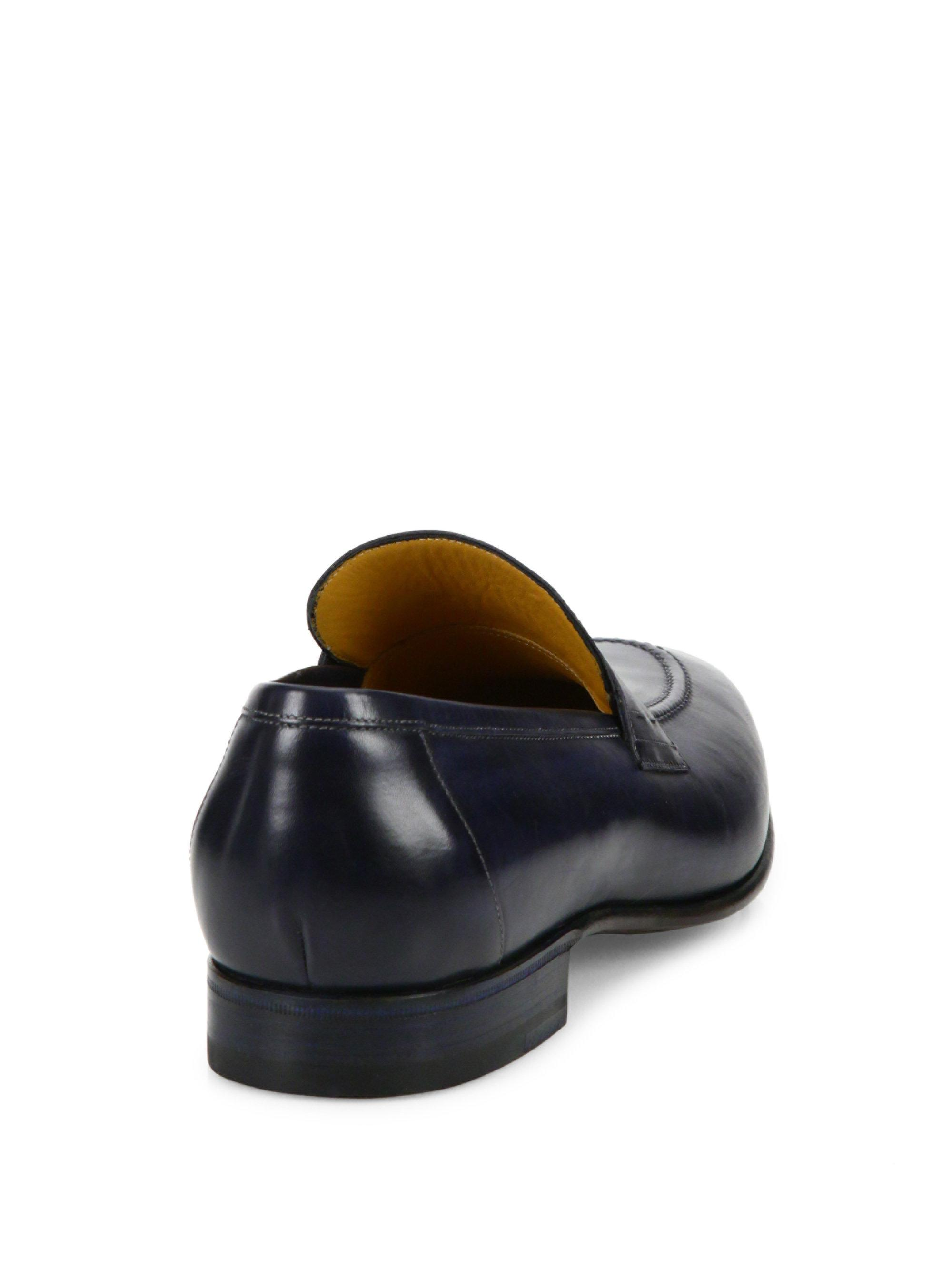 A.TESTONIPenny Slip-On Leather Loafers as4FT