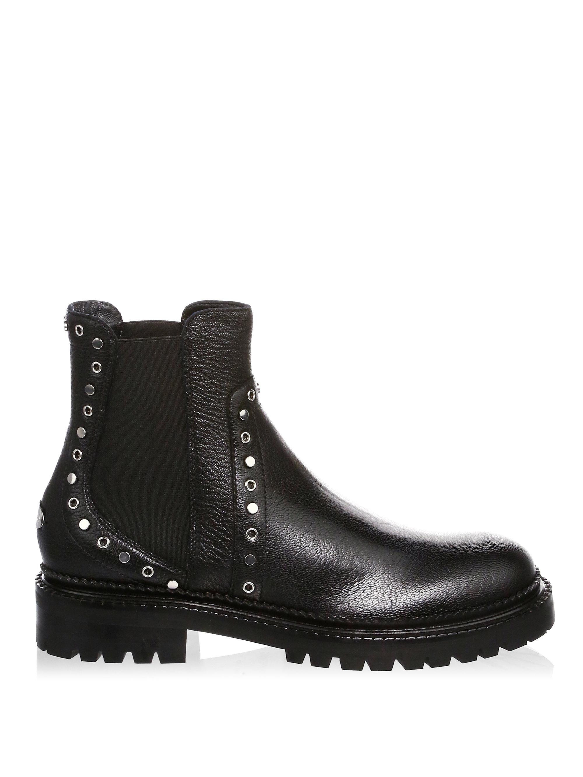 7e973dcc372 Jimmy Choo Studded Chelsea Boots in Black - Lyst