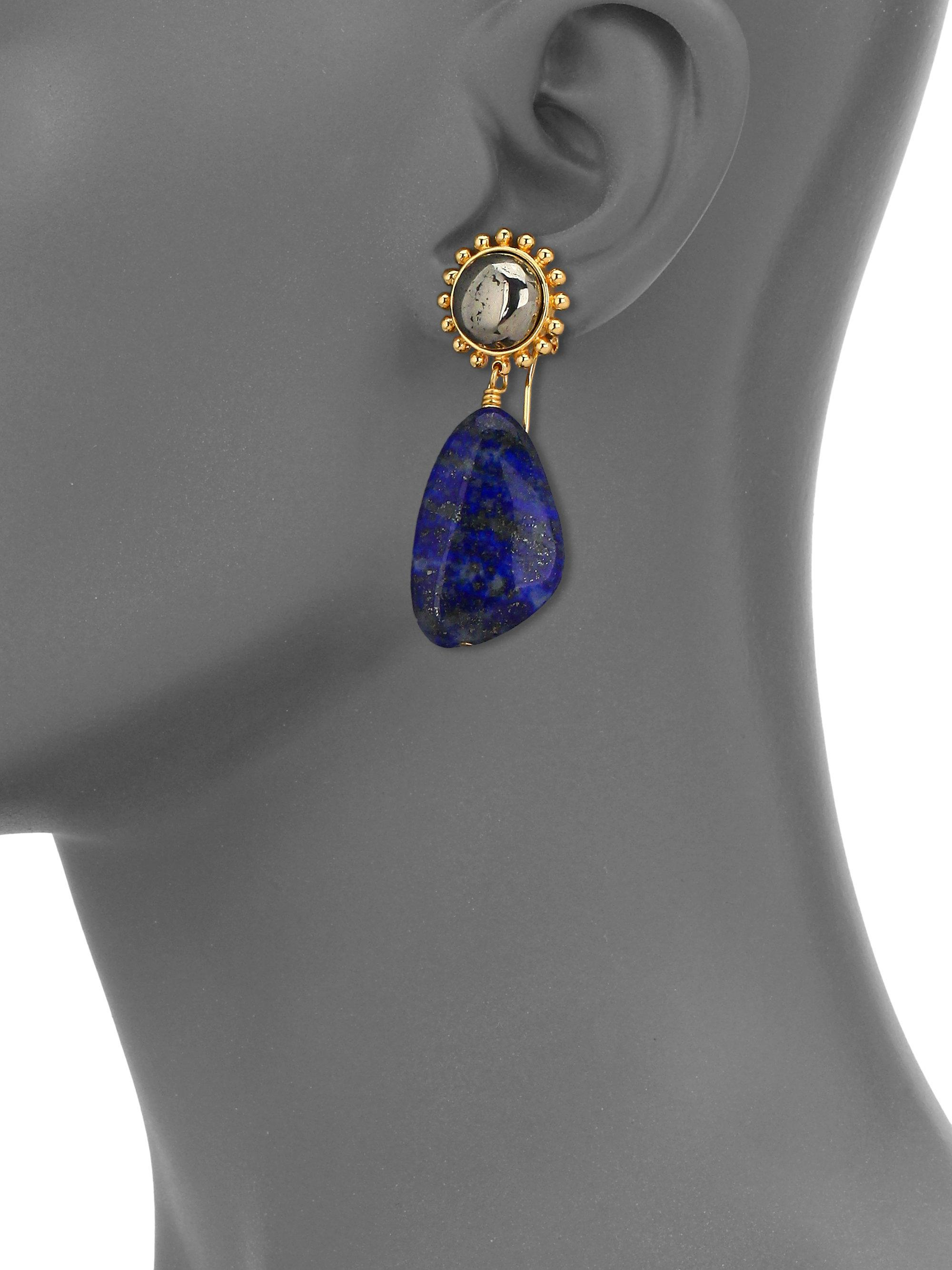 filled and in blue valltasy lazuli gold lapis dangle aphrodite the design earrings kyanite
