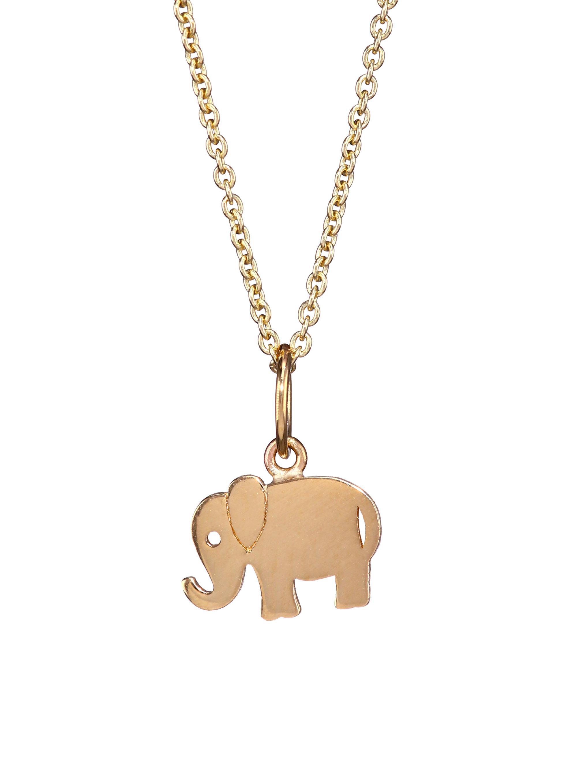 Lyst sydney evan 14k yellow gold elephant pendant necklace in metallic sydney evan womens metallic 14k yellow gold elephant pendant necklace aloadofball Gallery