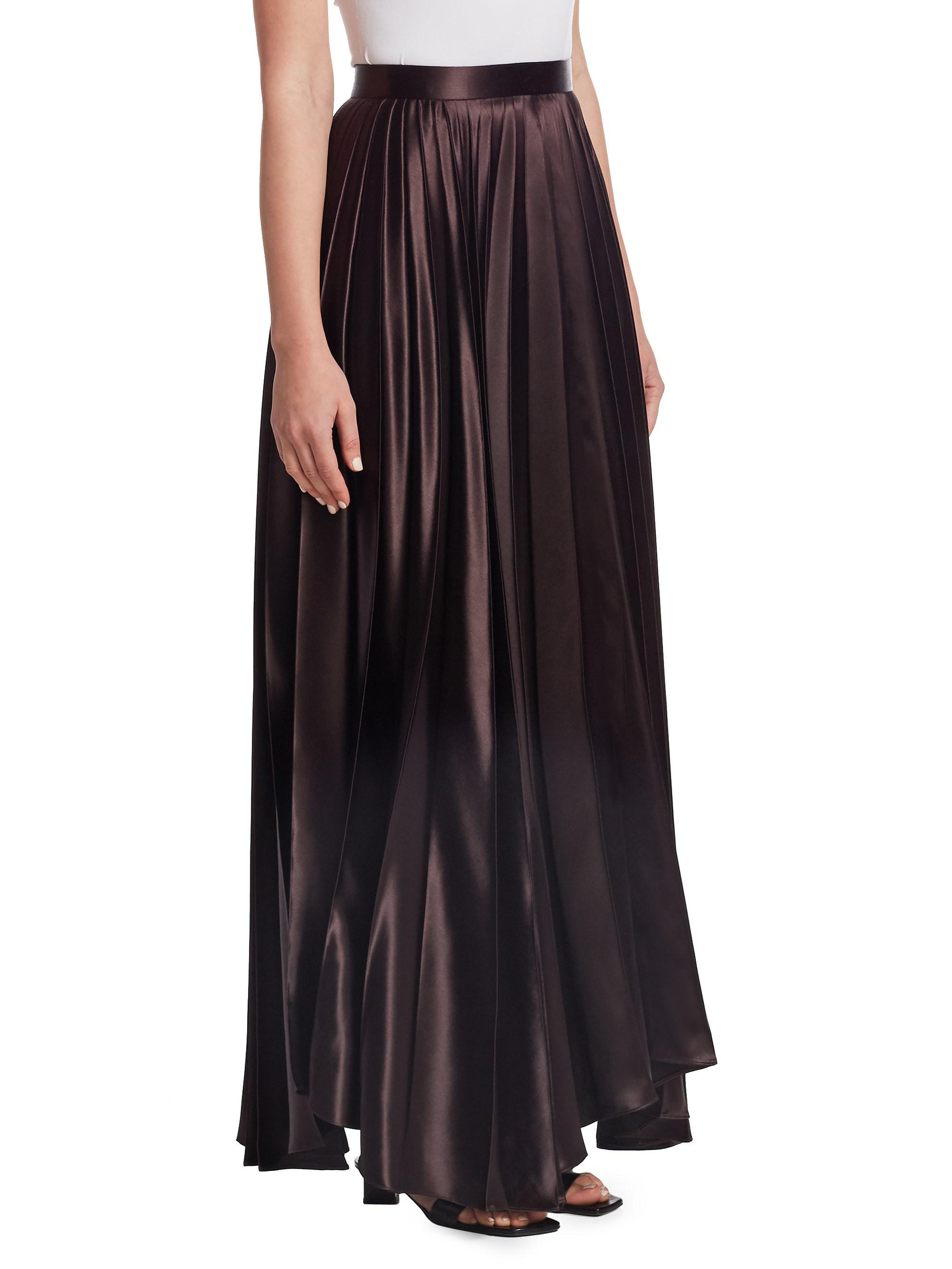 a06fc71756 The Row Vailen Pleated Maxi Skirt in Brown - Lyst