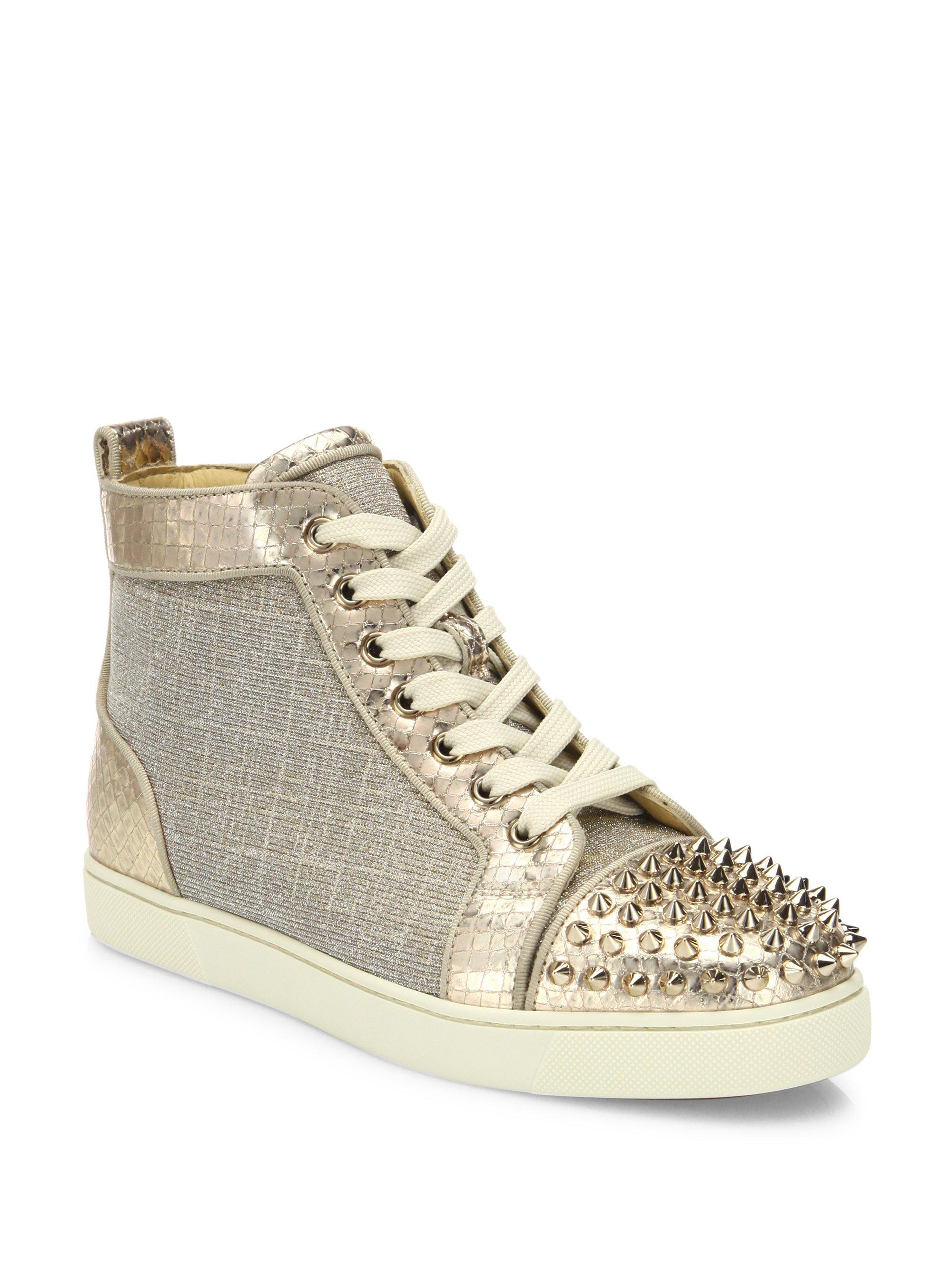 6858a2875095 Gallery. Previously sold at: Saks Fifth Avenue · Women's Christian  Louboutin Spike Shoes