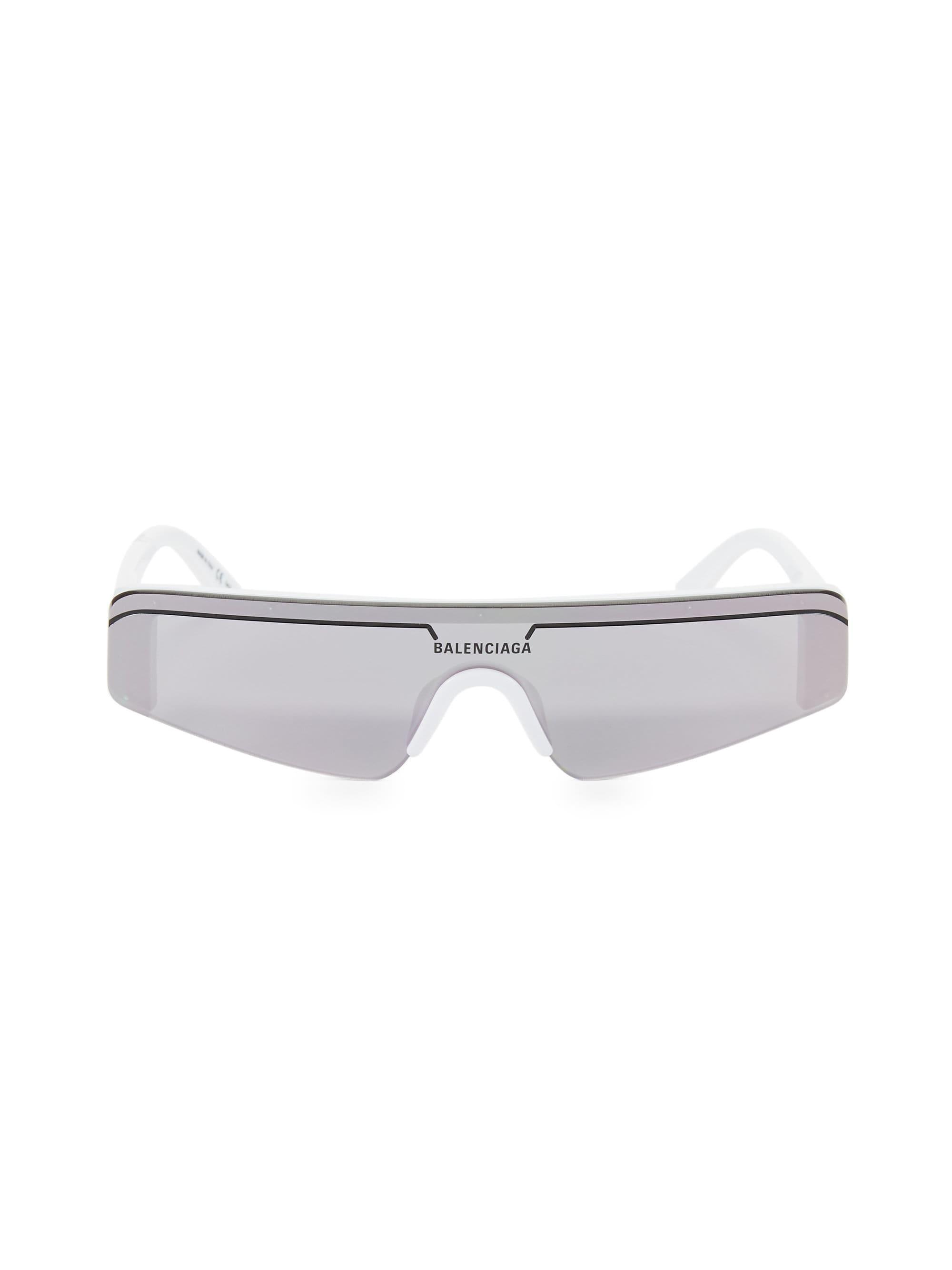 f39d2a7877 Lyst - Balenciaga 99mm Angular Shield Sunglasses in White for Men