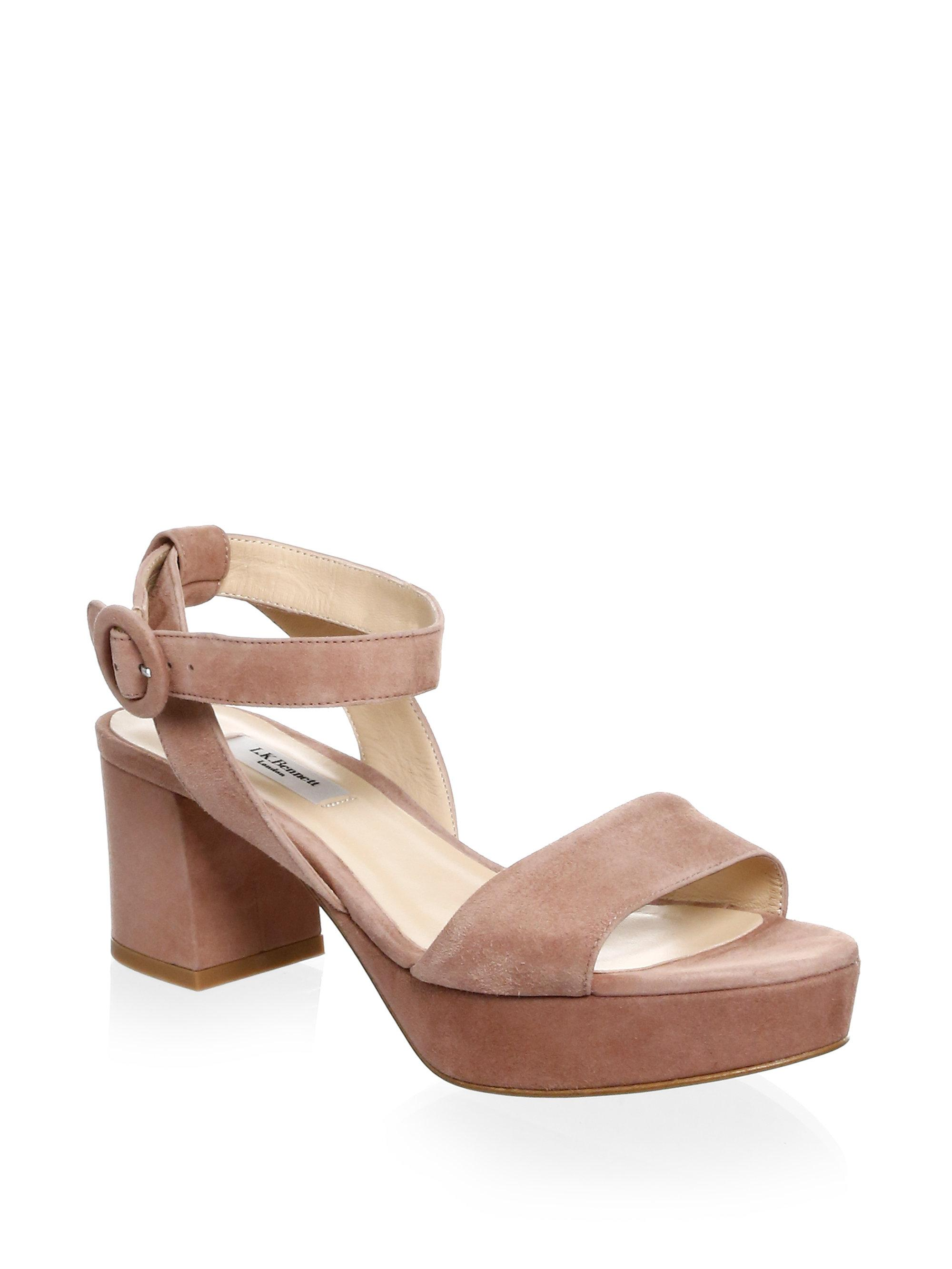 L.K. Bennett Block Heel Leather Platform Sandals uwArzS