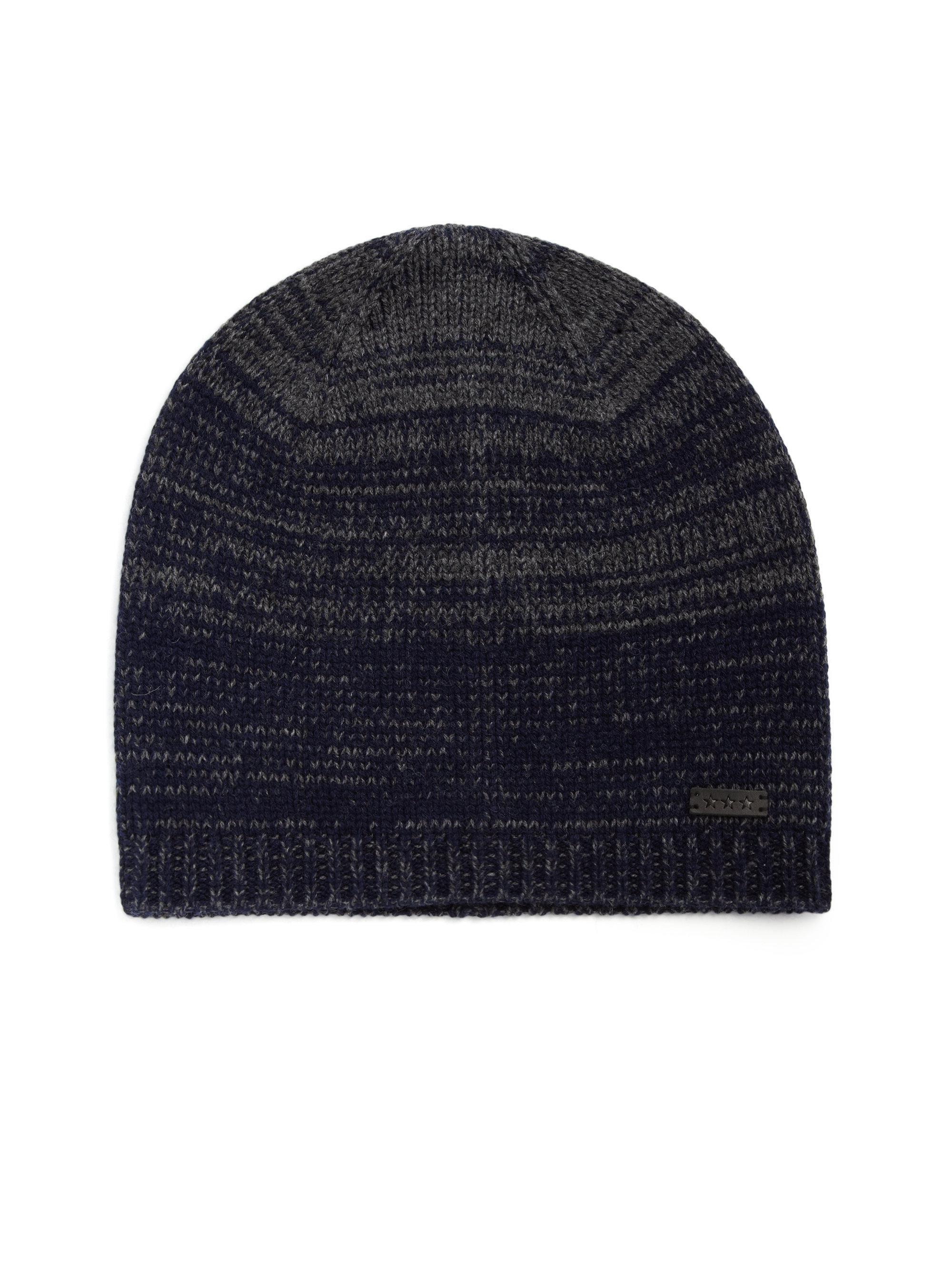 f70592d5f20 John Varvatos Ombre Knit Wool   Cashmere Skull Hat in Blue for Men ...