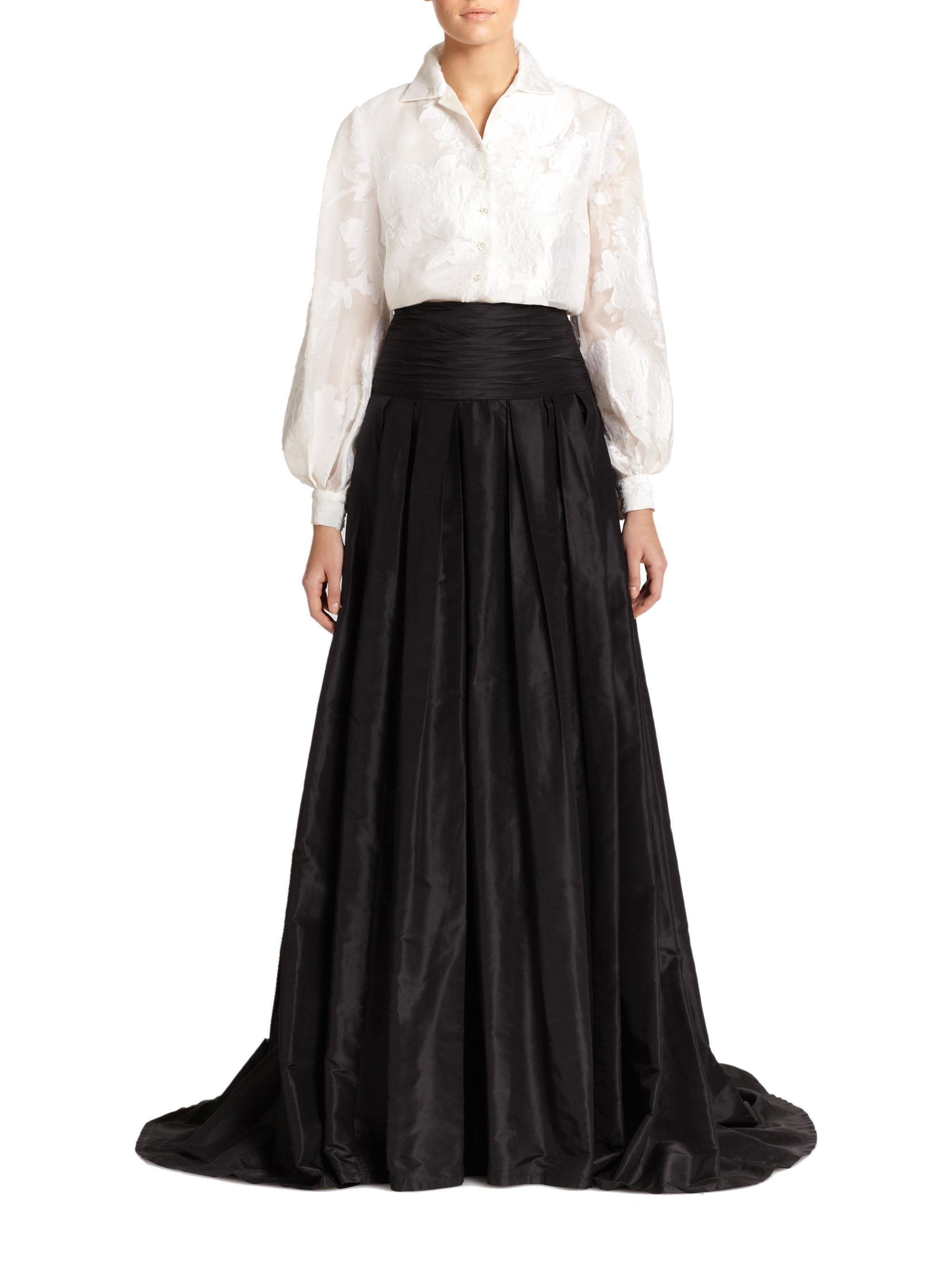 Lyst - Carolina Herrera Icon Collection Silk Cummerbund Ball Gown ...