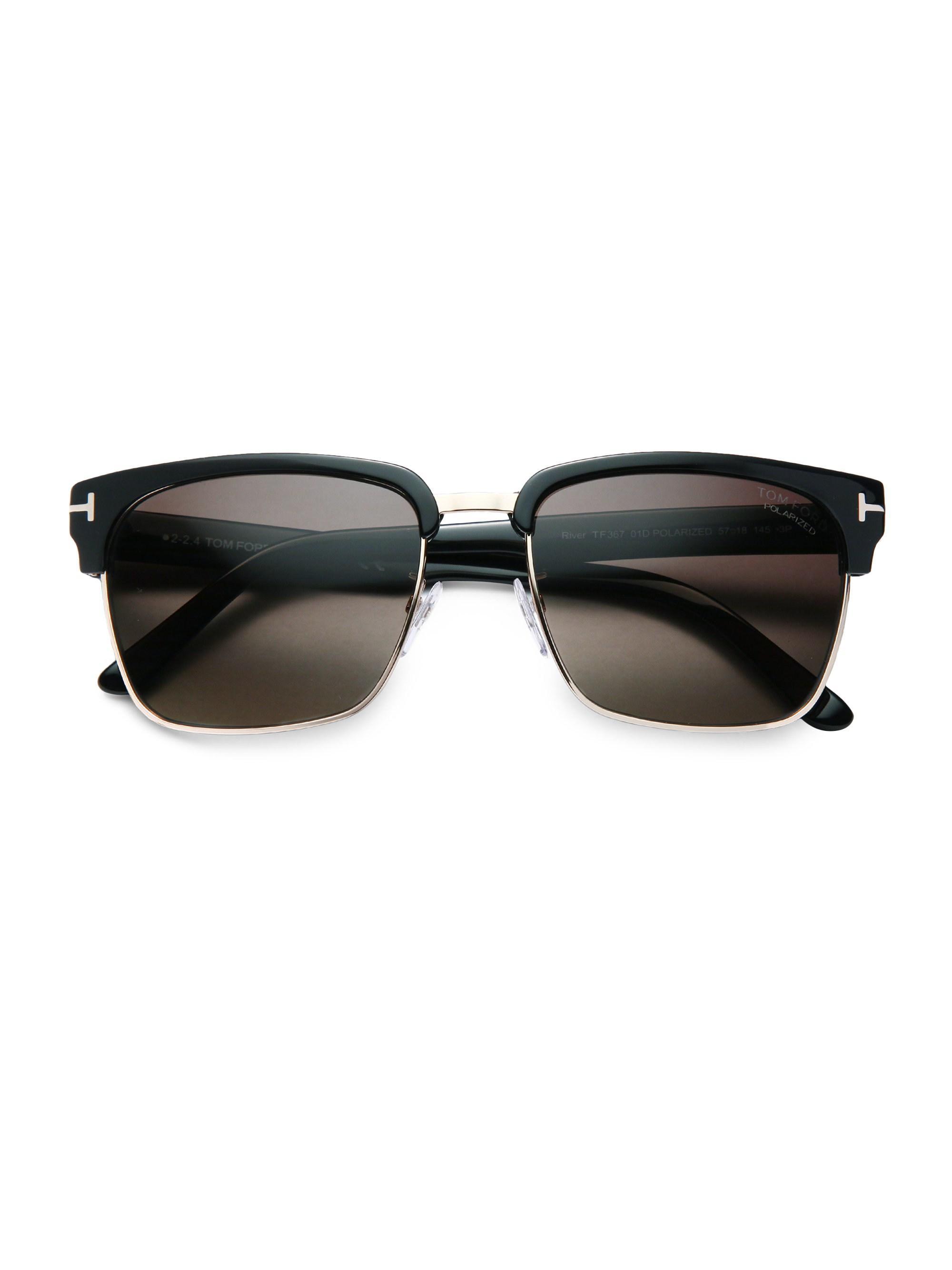 3216bdb75afbe Tom Ford Men s River 57mm Square Sunglasses - Black in Black for Men ...