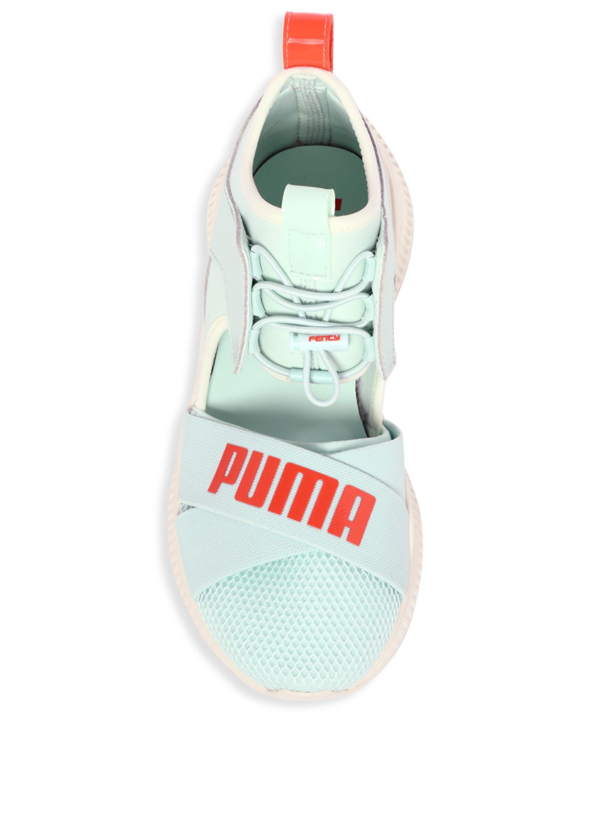 best cheap 15872 a4552 PUMA Fenty Avid Cut-out Sneakers in Blue - Lyst