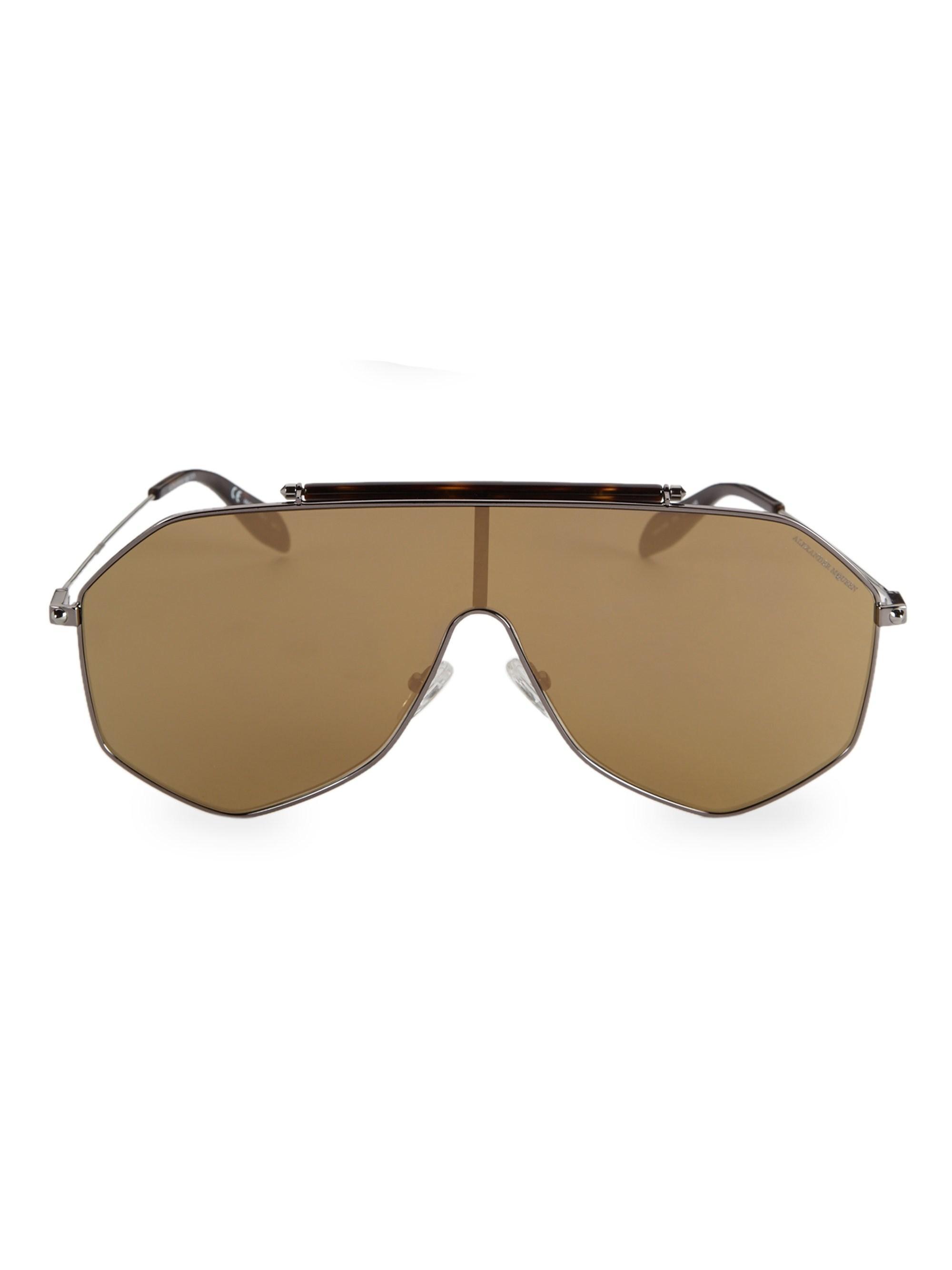 0cf3100a96c0 Lyst - Alexander McQueen Men s Piercing 99mm Shield Sunglasses ...