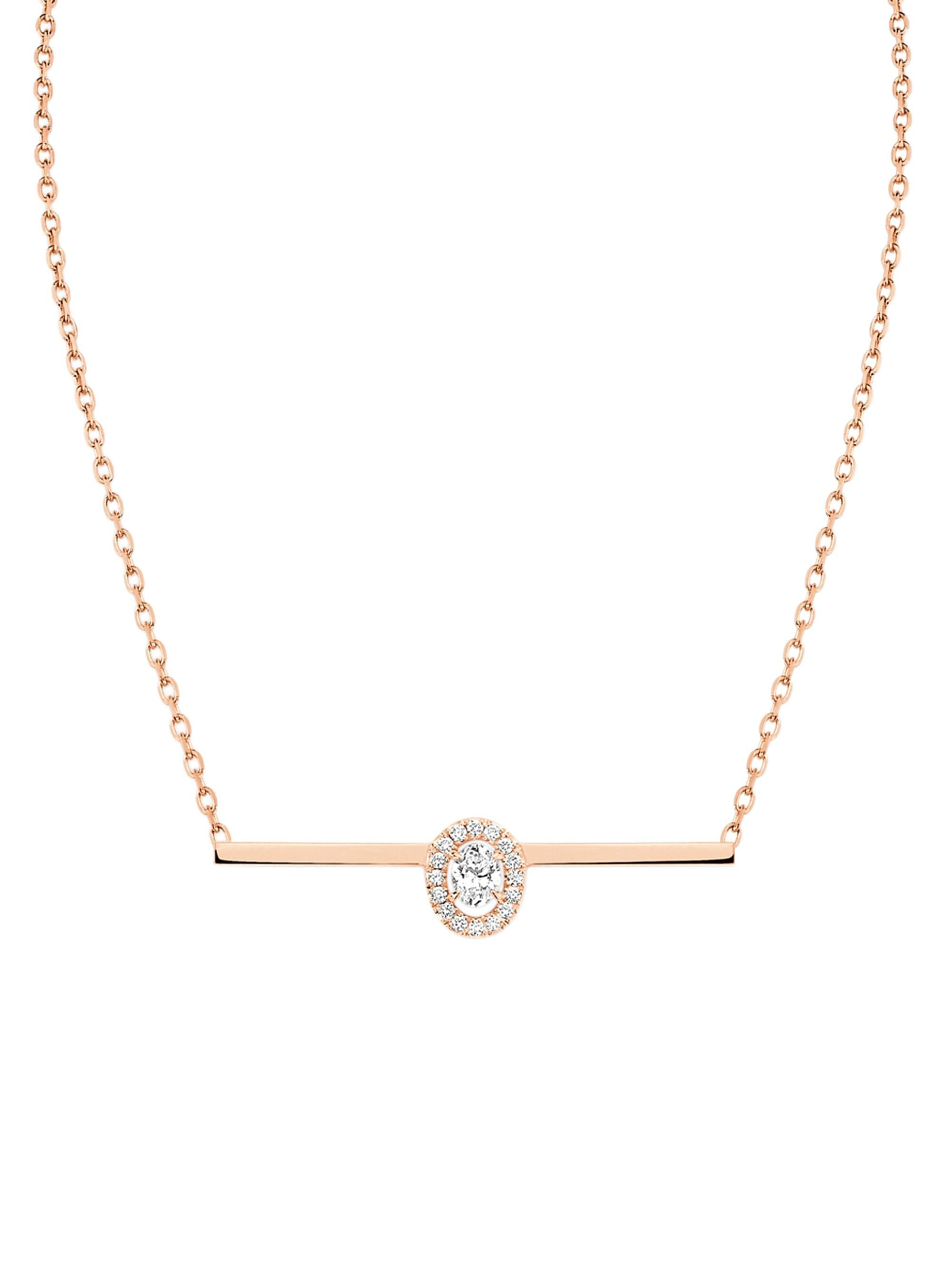 1c6e87615d9fce Messika - Metallic Women's Glam'azone Diamond & 18k Rose Gold Pendant  Necklace - Pink. View fullscreen