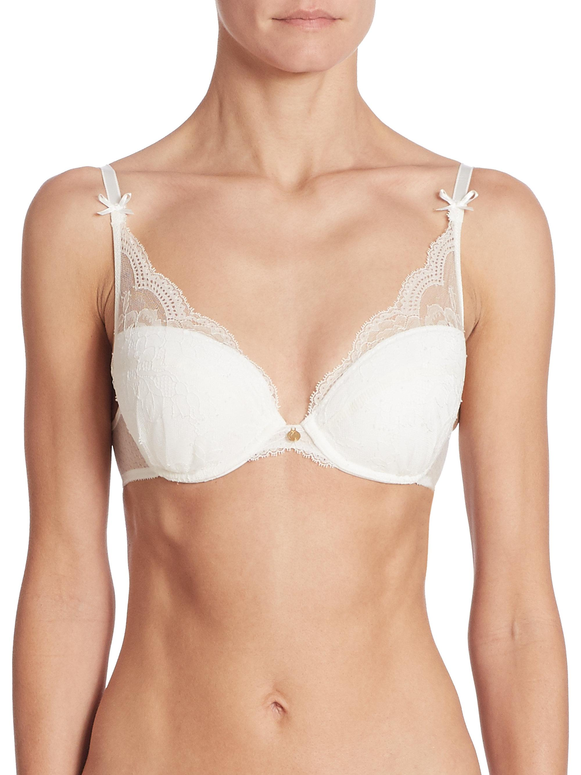 f3f0134ce4672 Chantelle Presage Lace Push-up Bra in White - Lyst