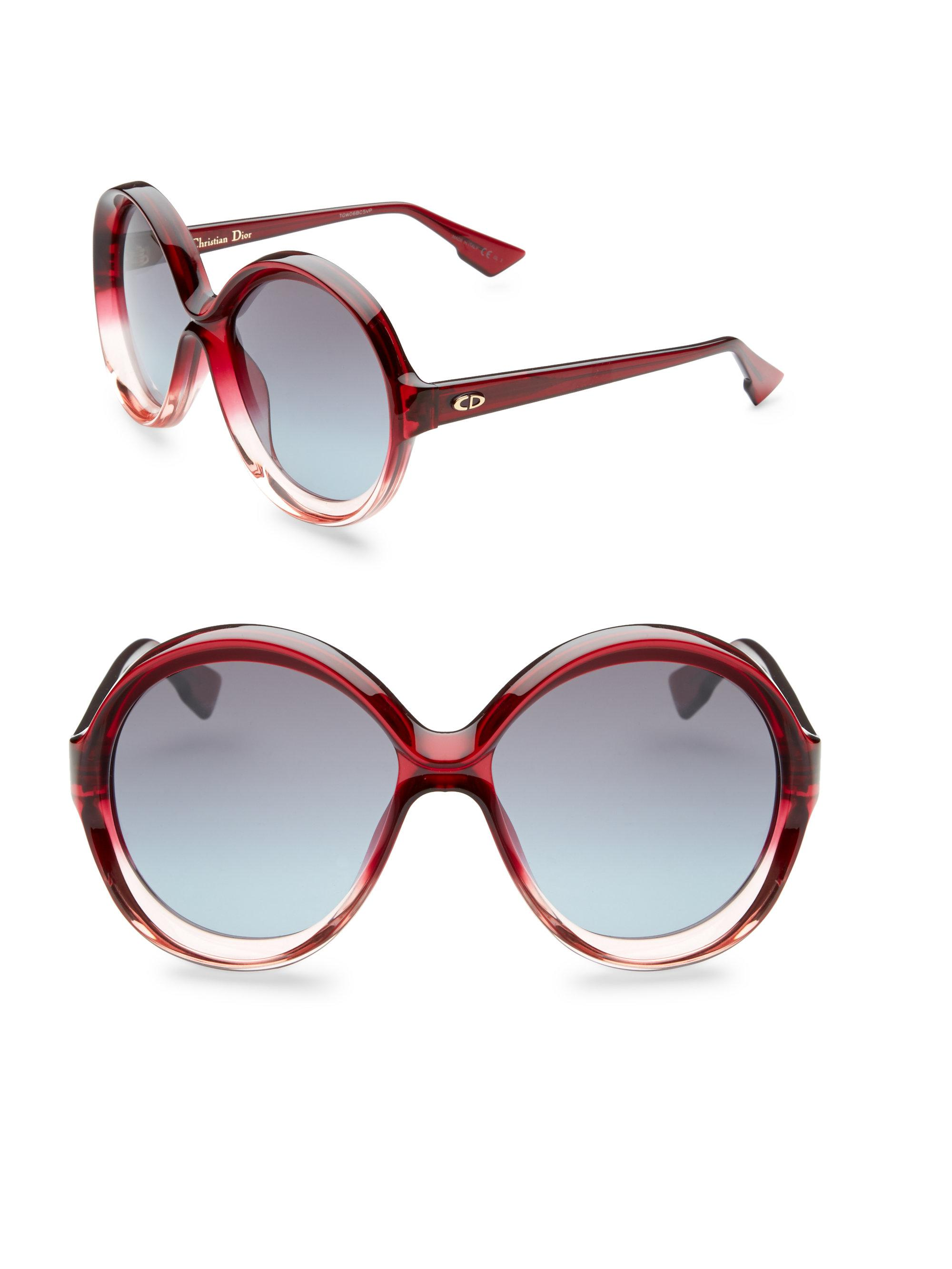 e9ff60bc69 Dior Bianca 58mm Round Sunglasses in Pink - Lyst
