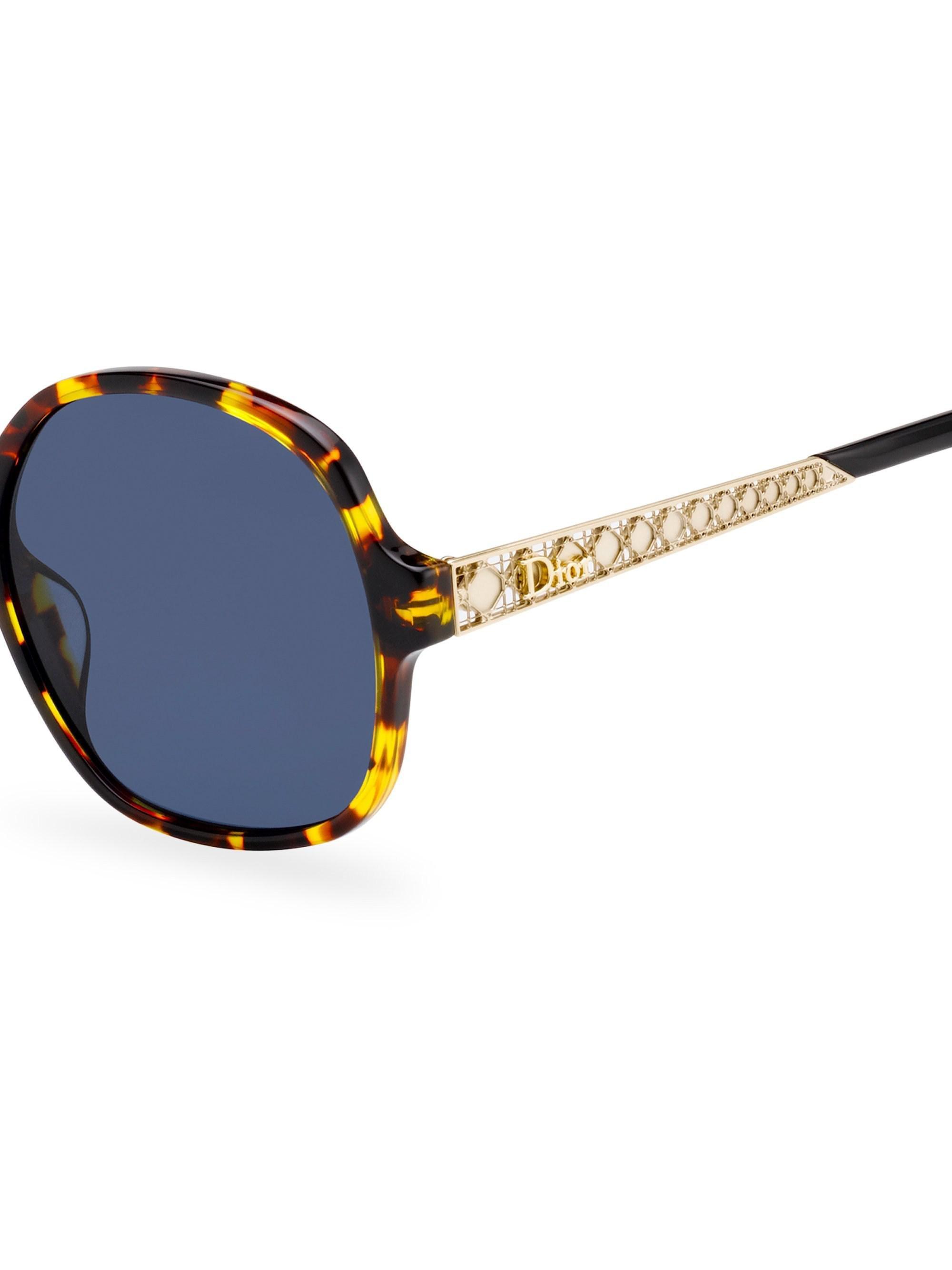 48ab46709fc Dior - Blue Ama 58mm Oversized Round Sunglasses - Lyst. View fullscreen