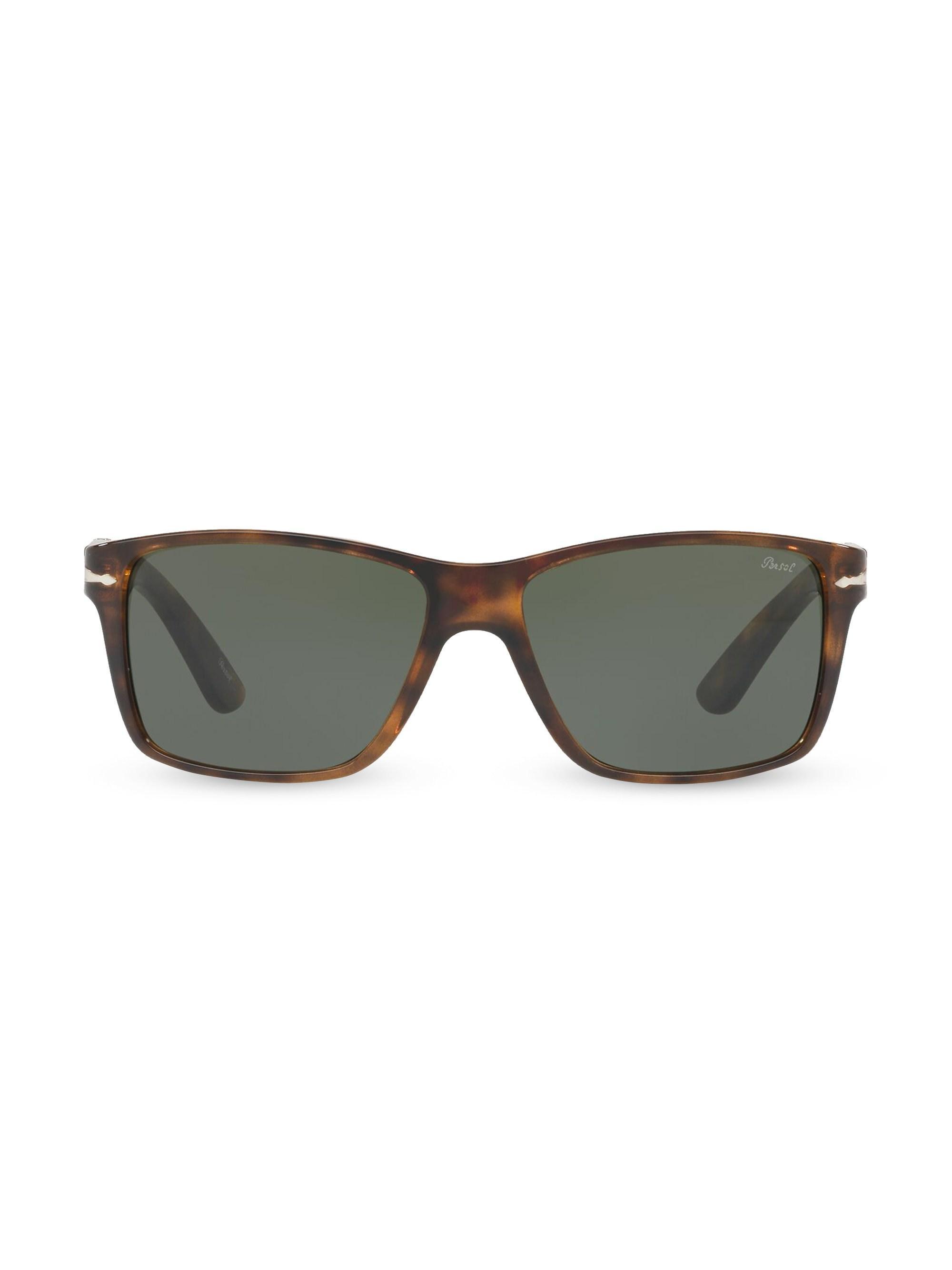 cbe089294f131 Persol - Brown Men s 58mm Rectangular Sunglasses - Dark Havana for Men -  Lyst. View fullscreen