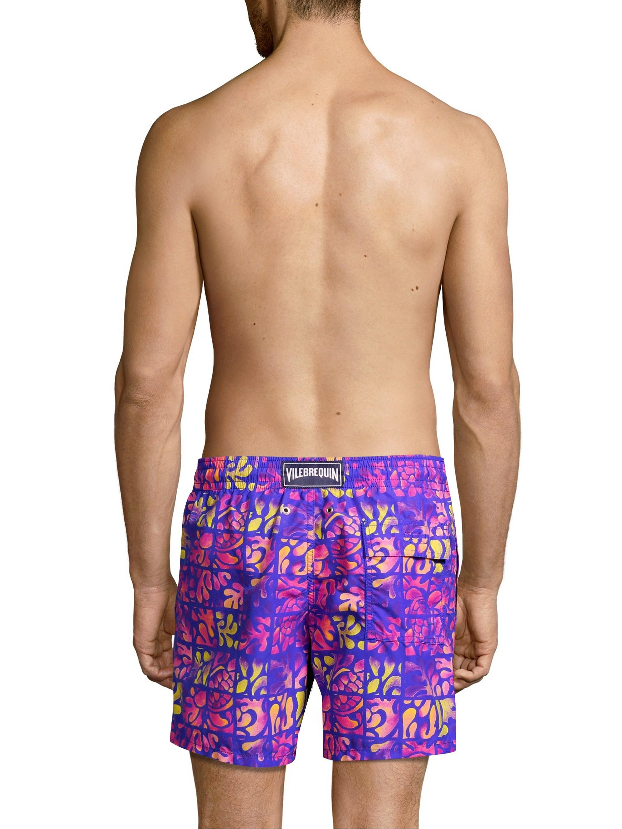 636cac90d0 Vilebrequin Men's Phuket Swim Trunks - Bleu De Mer - Size Medium in ...