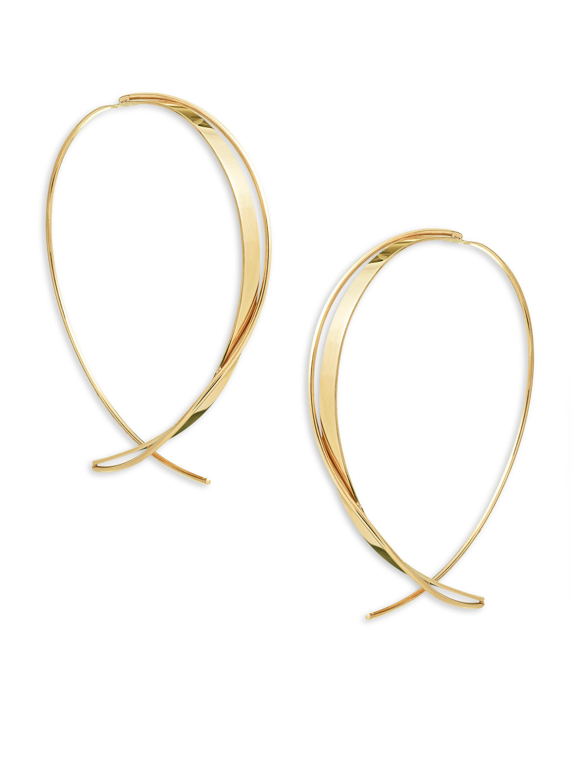 f46ec8cc48eaa Lyst - Lana Jewelry 15-year Anniversary Crisscross Upside Down Hoop ...