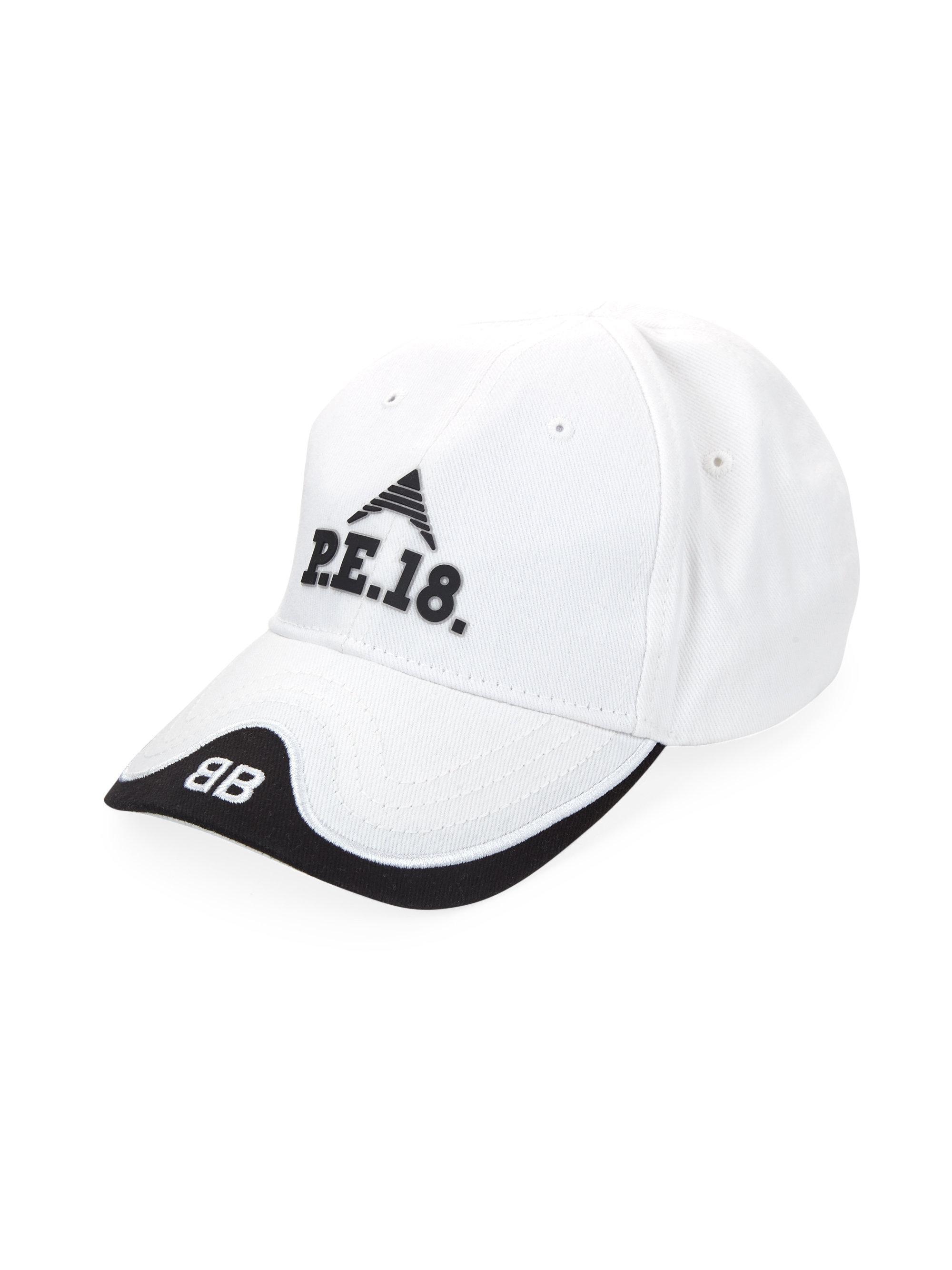 2895db816db Balenciaga P.e. 18 Baseball Cap in White - Lyst