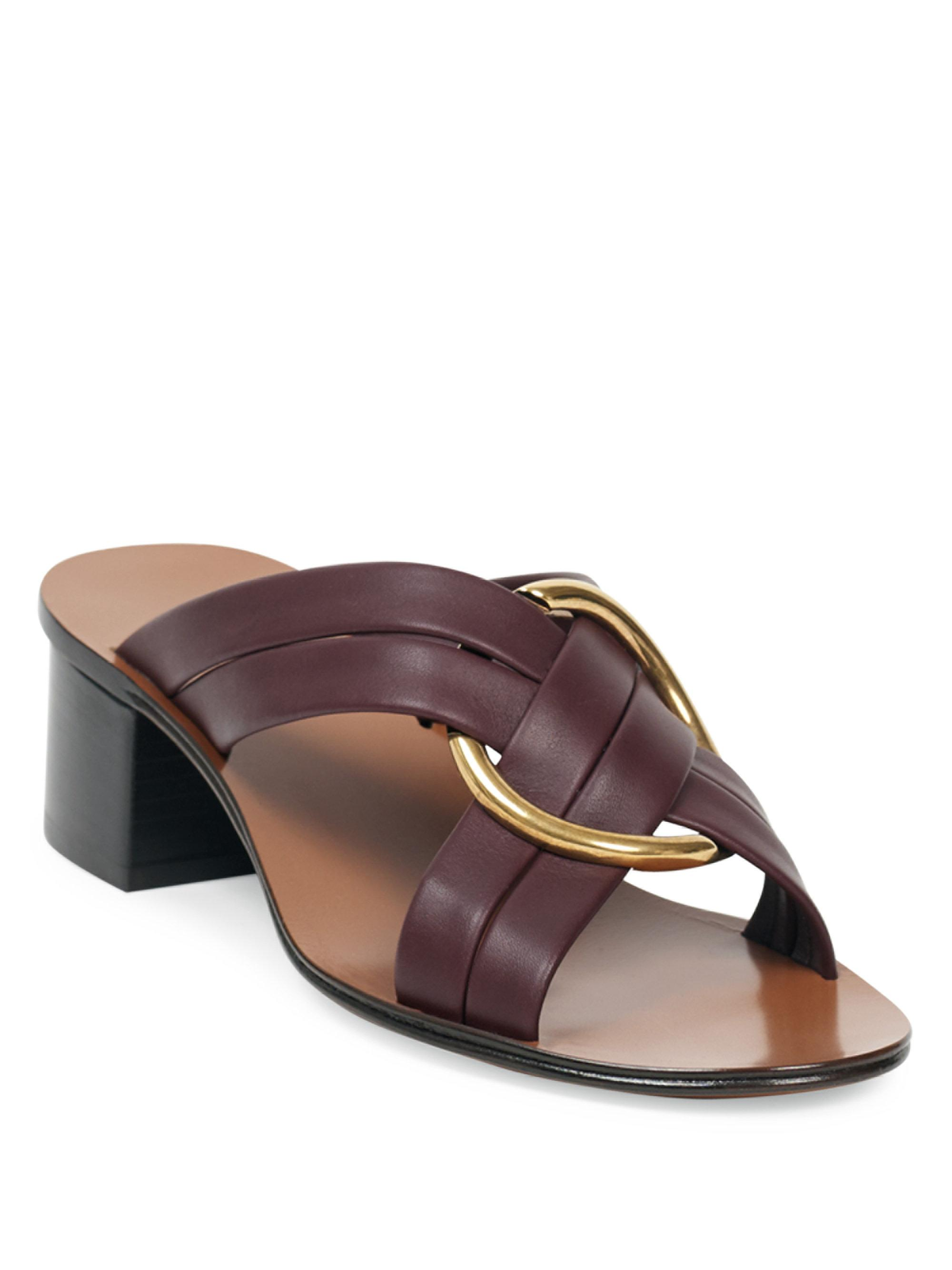 Rony leather sandals Chlo 8czHbH9gZ