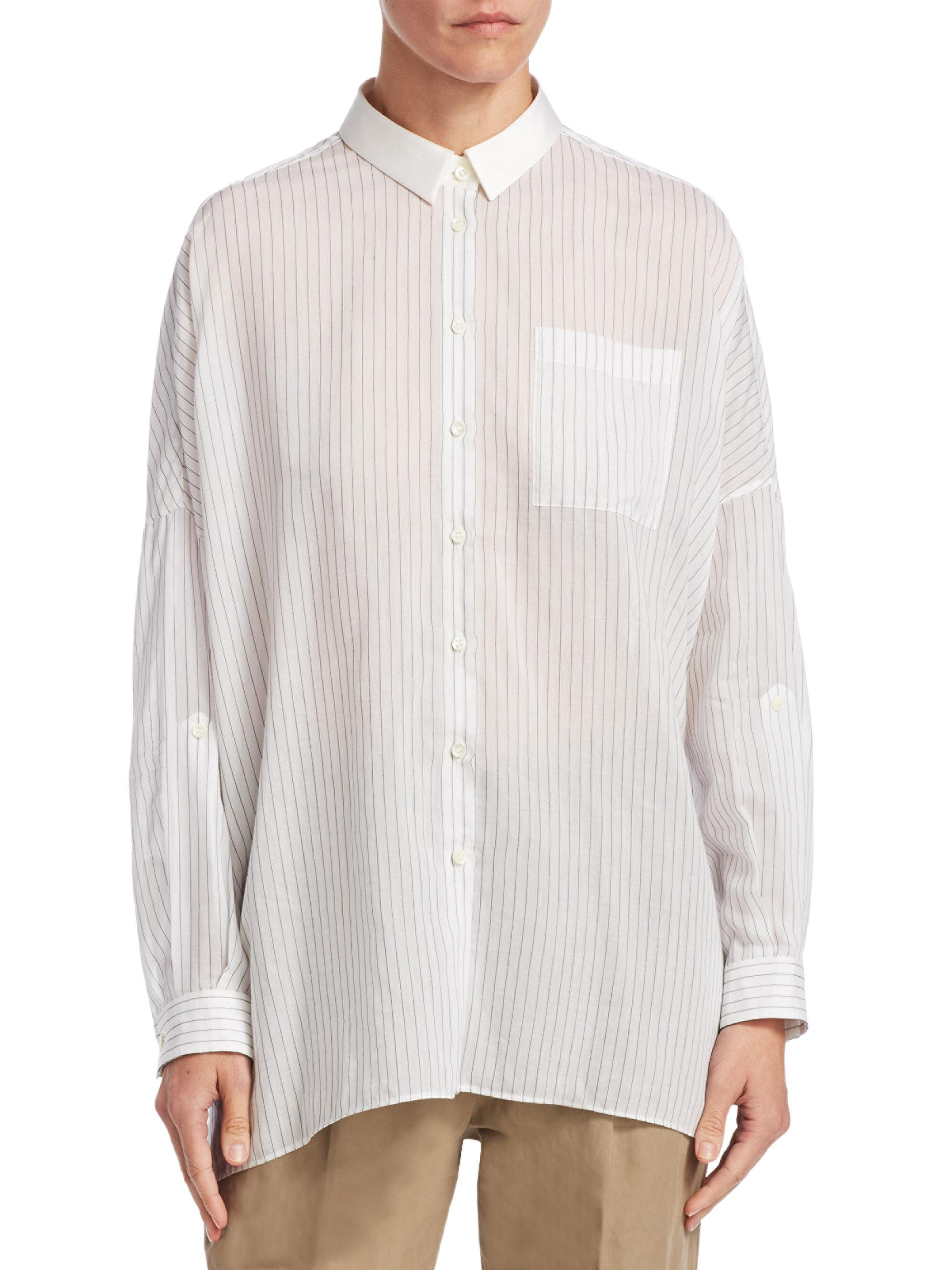 Discount Looking For Discount Comfortable Oversized striped cotton shirt Brunello Cucinelli Cheap Price Outlet Sale Cheap Fashionable Discount Footlocker Pictures 3SeMUgR941