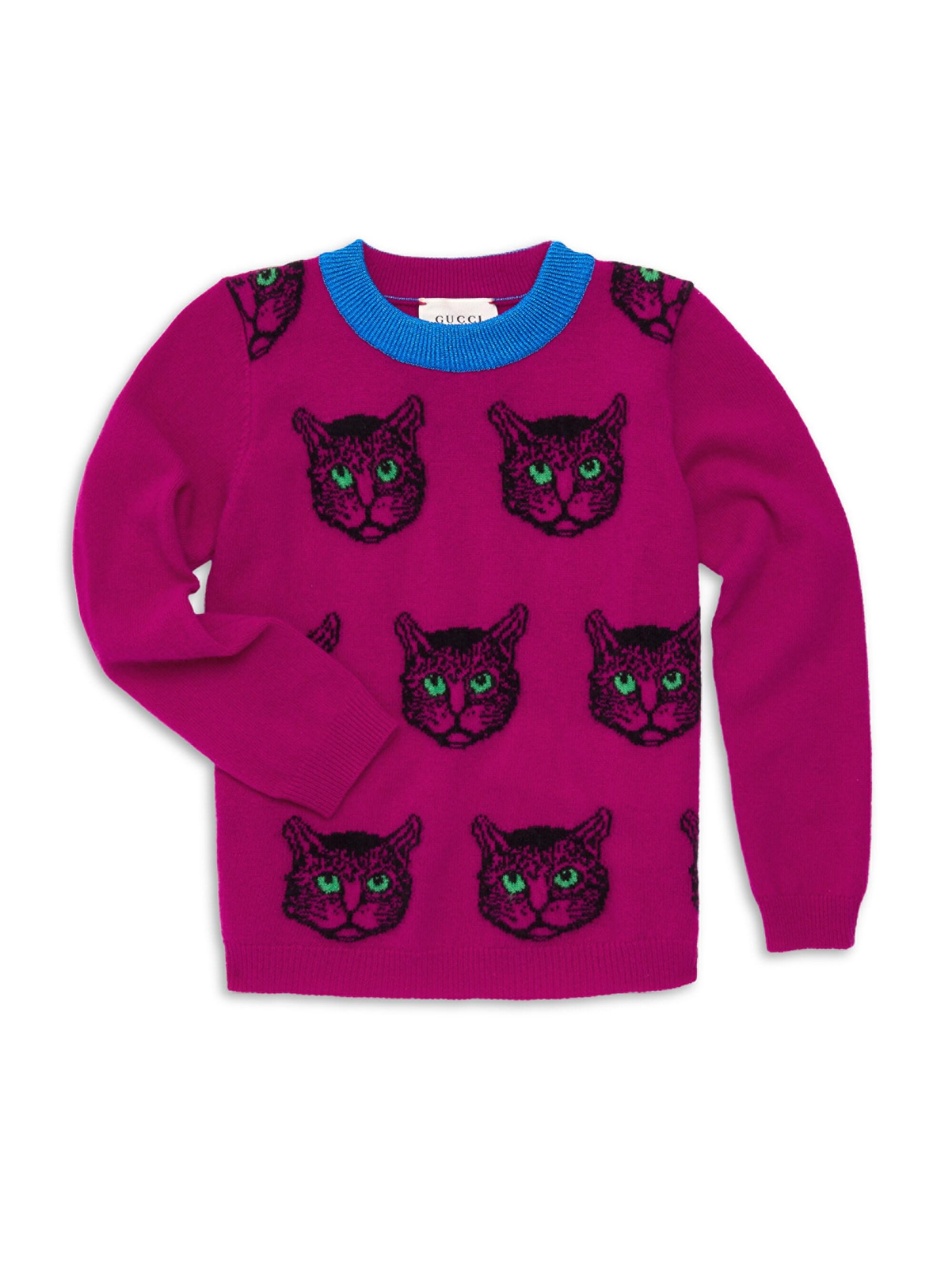 daf55b6f271d Gucci Little Girl's & Girl's Wild Cat Pullover Sweater for Men - Lyst