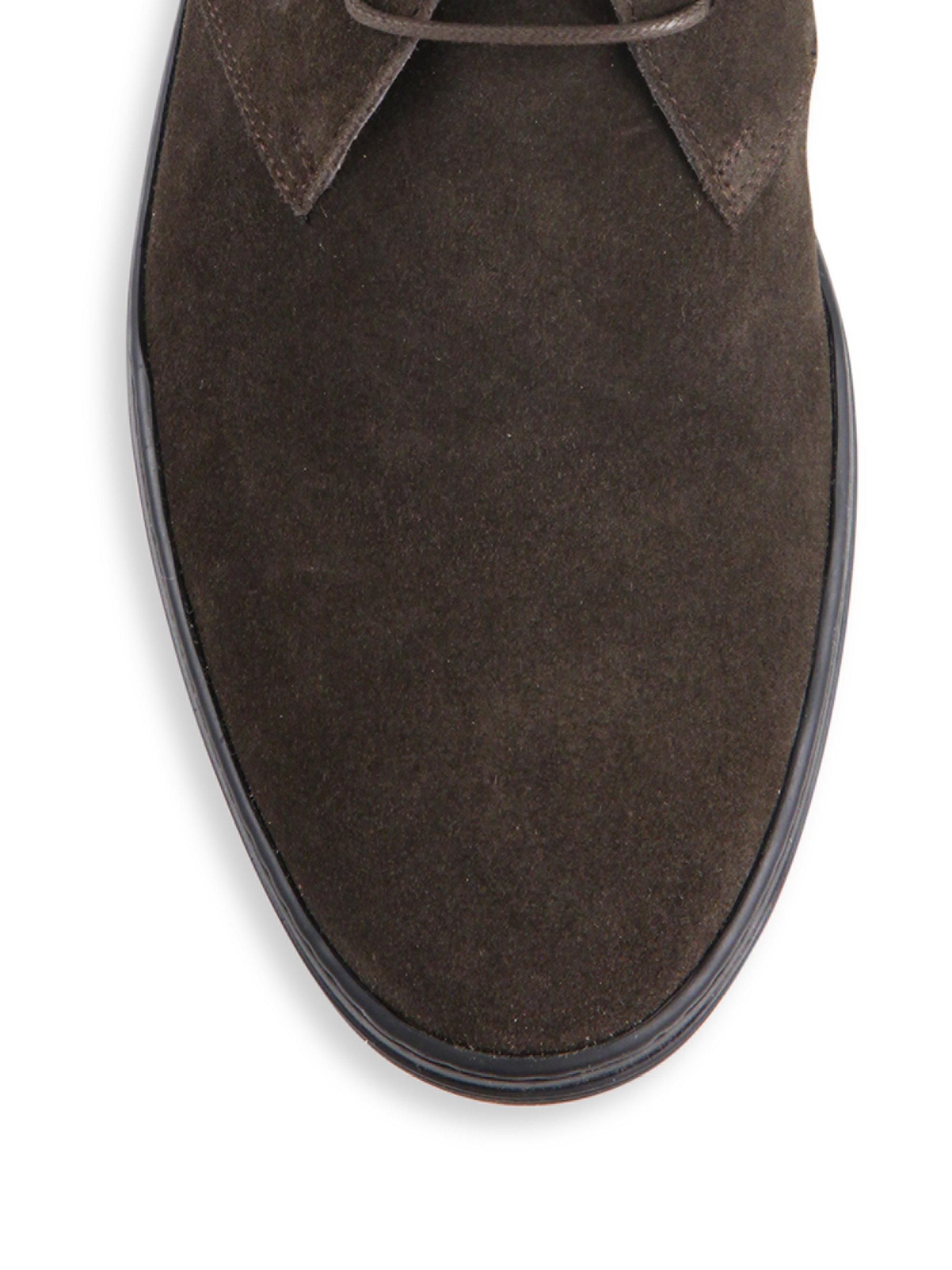 Lyst Tod S Polacco Gomma Suede Chukka Boots In Brown For Men