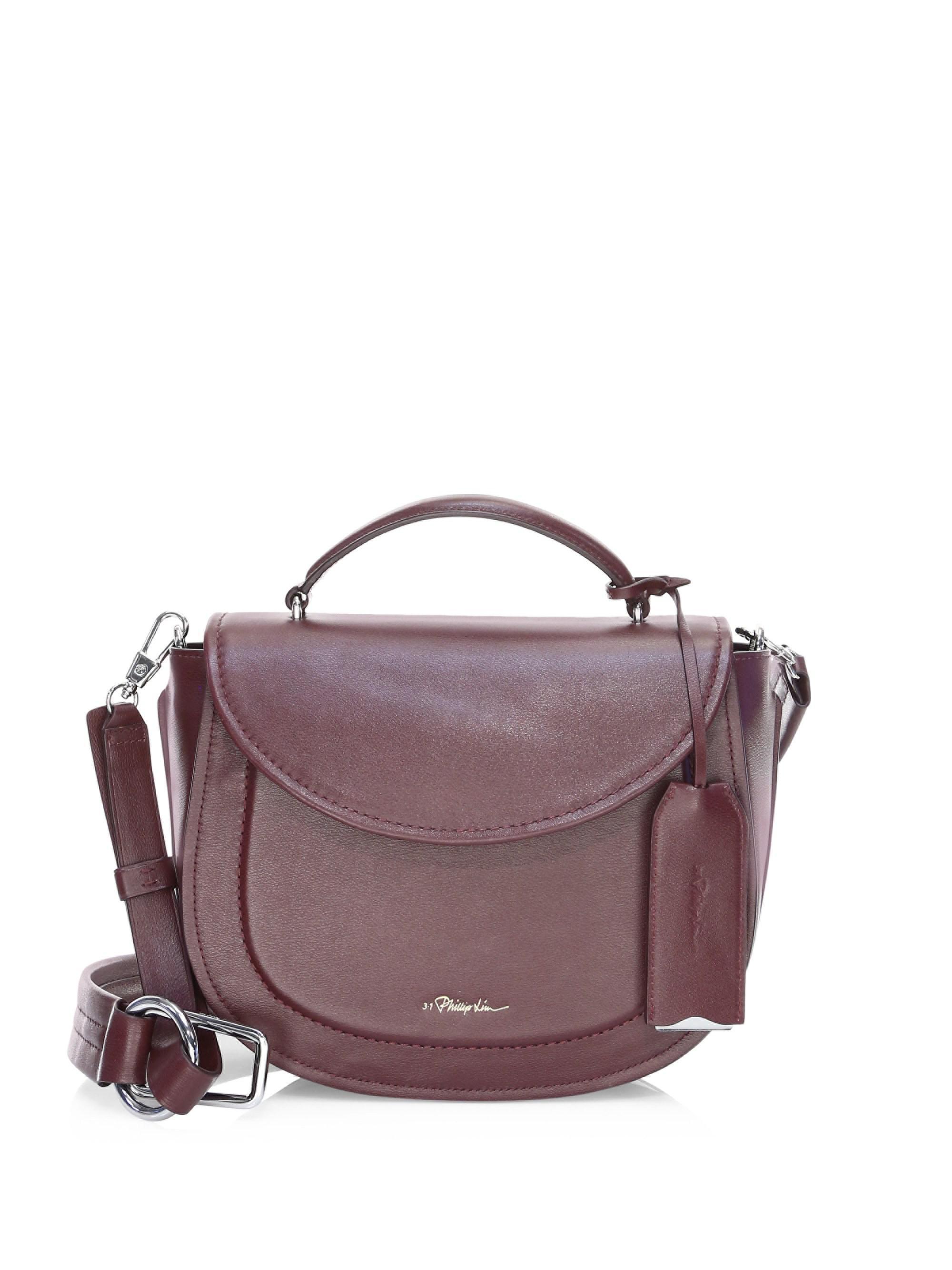 d9cb1e7942b1 3.1 Phillip Lim Hudson Leather Top Handle Saddle Bag - Lyst