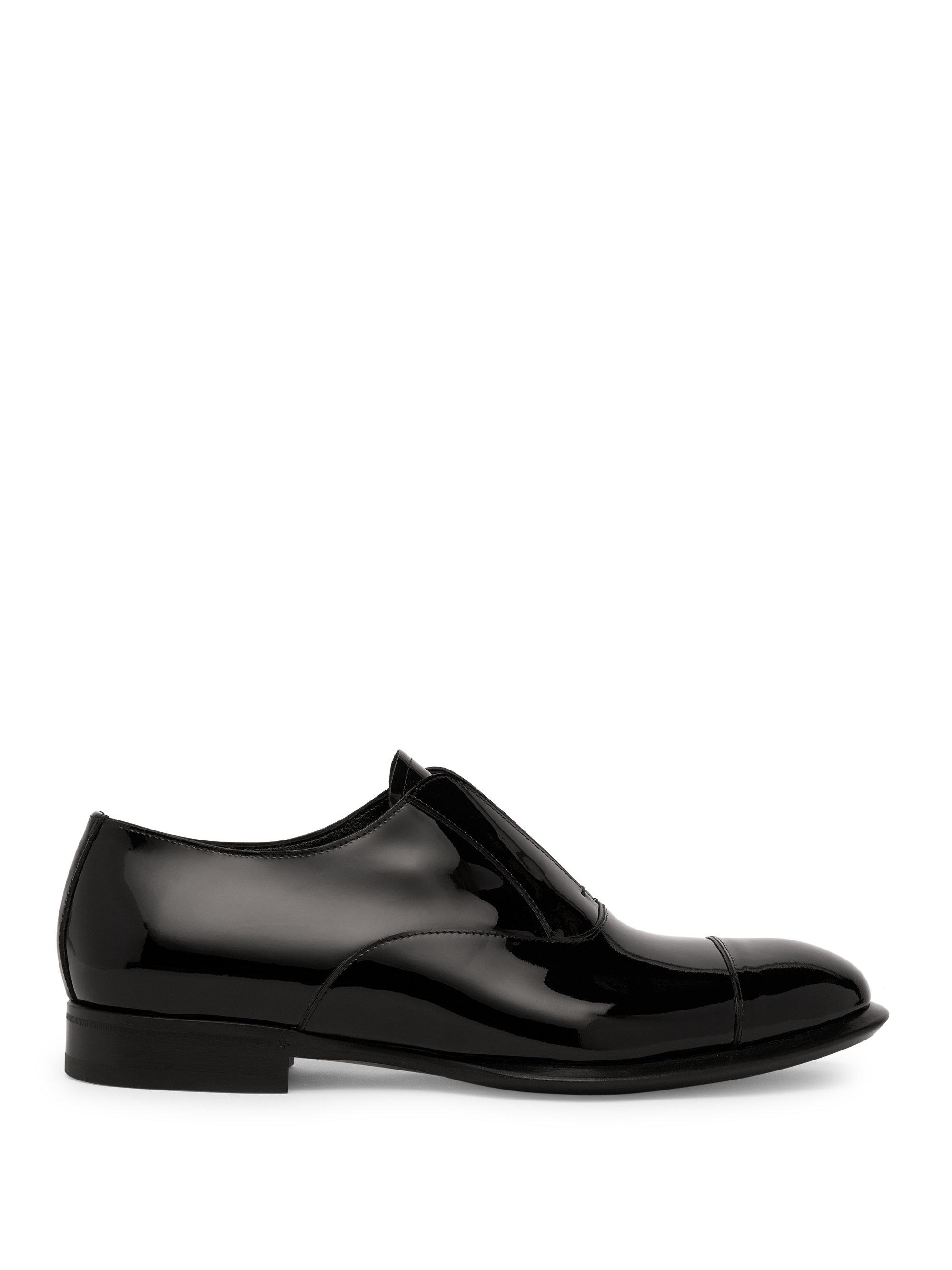 Alexander McQueen Patent Laceless Slip-On Shoes SKKCkYkNW