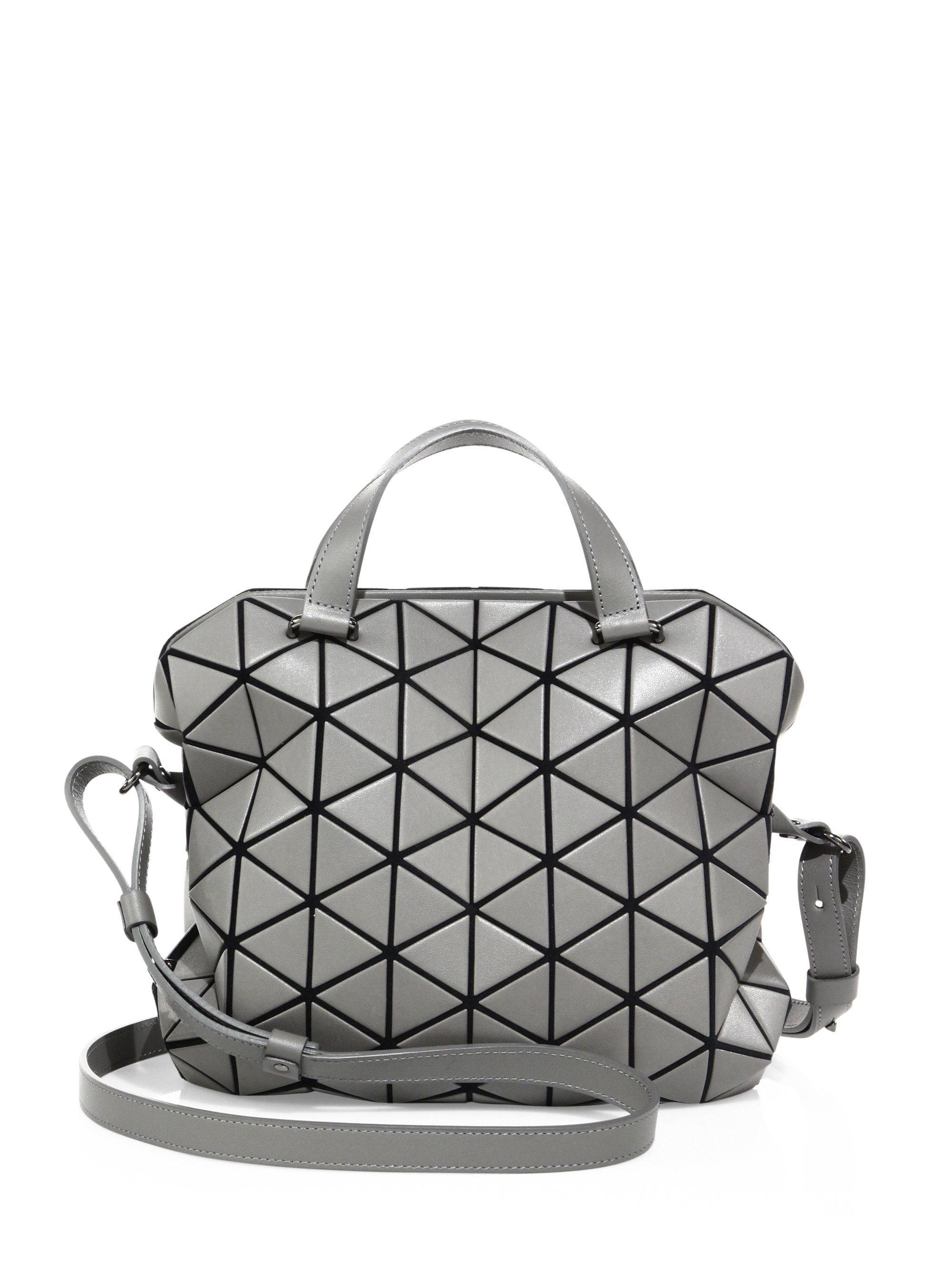 d0ca6480bf Lyst - Bao Bao Issey Miyake Bao Bao Tonneau Boston Bag in Gray
