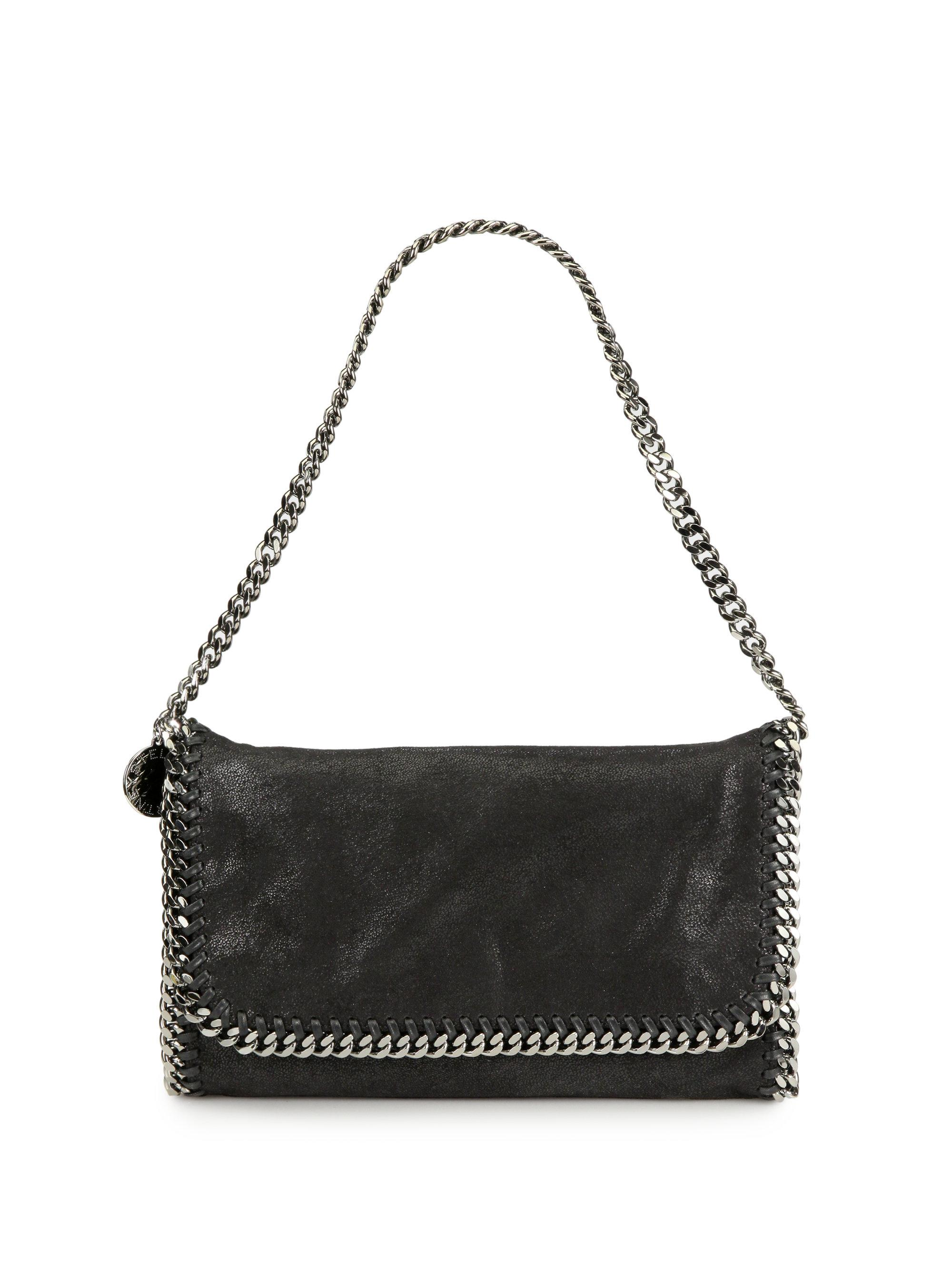 With Credit Card Online Buy Cheap New Falabella foldover shoulder bag - Black Stella McCartney Where To Buy Low Shipping Cheap Online 2jpD3