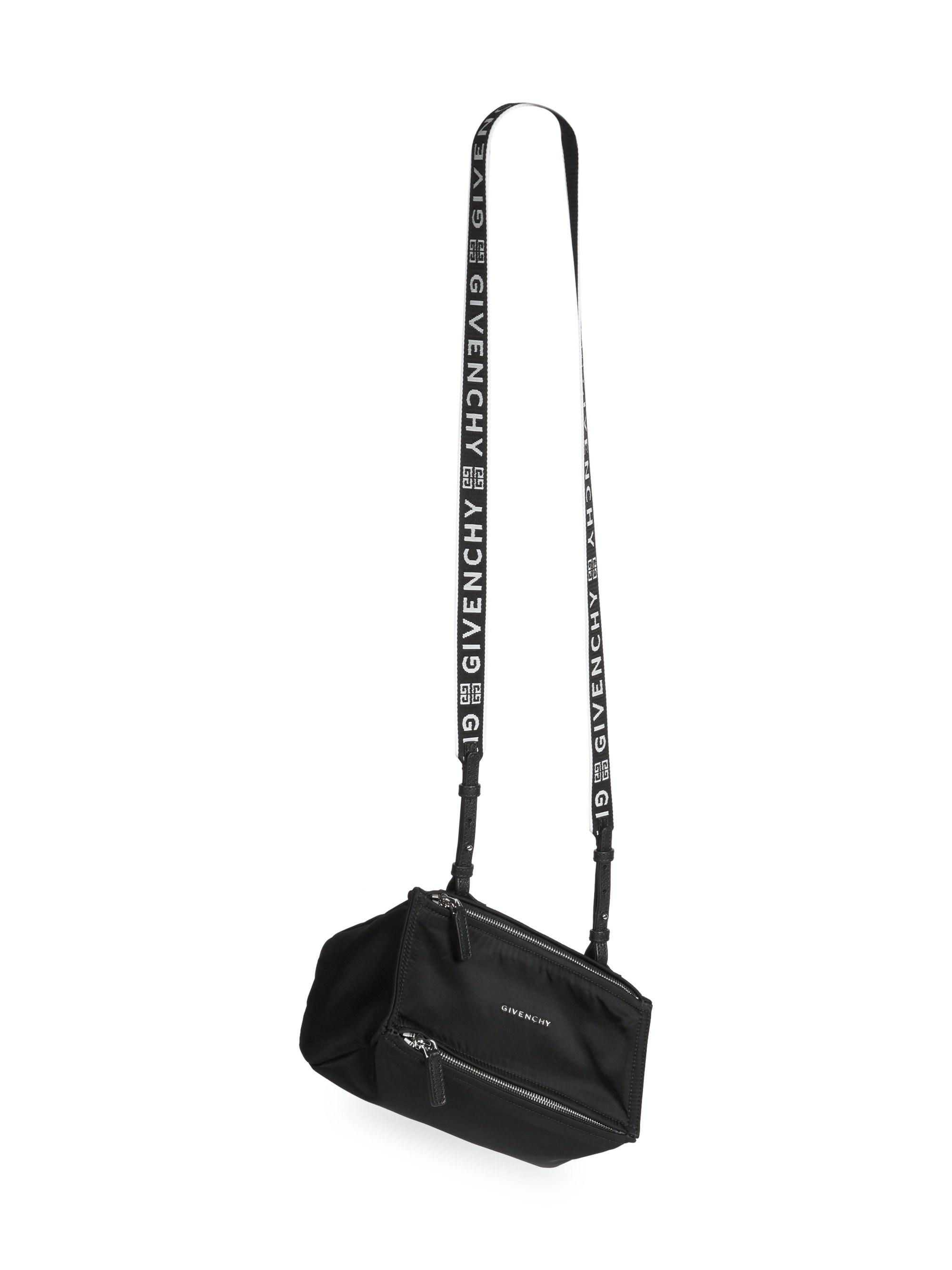 6356365e407 Givenchy - Women s Mini Nylon Pandora Bag With Logo Strap - Black - Lyst.  View fullscreen