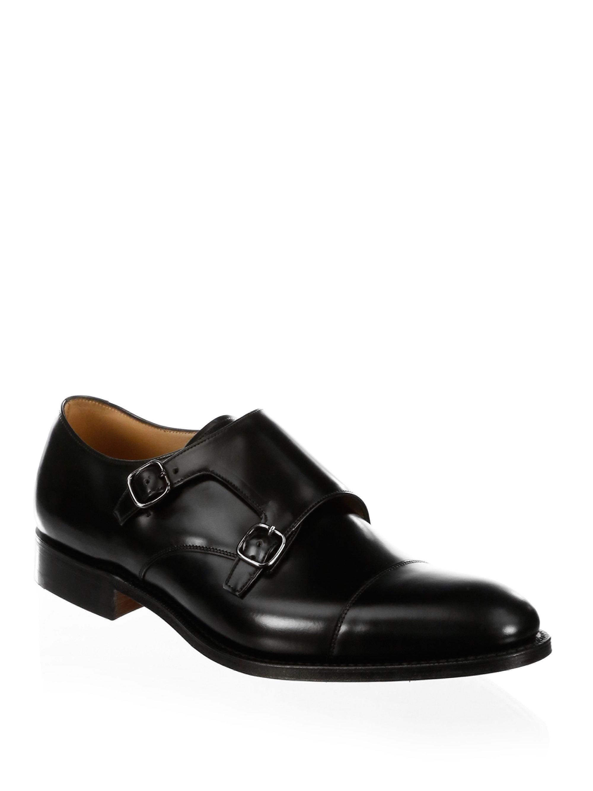 Church'sDetroit Double Leather Monk Strap Shoes FJ2ms