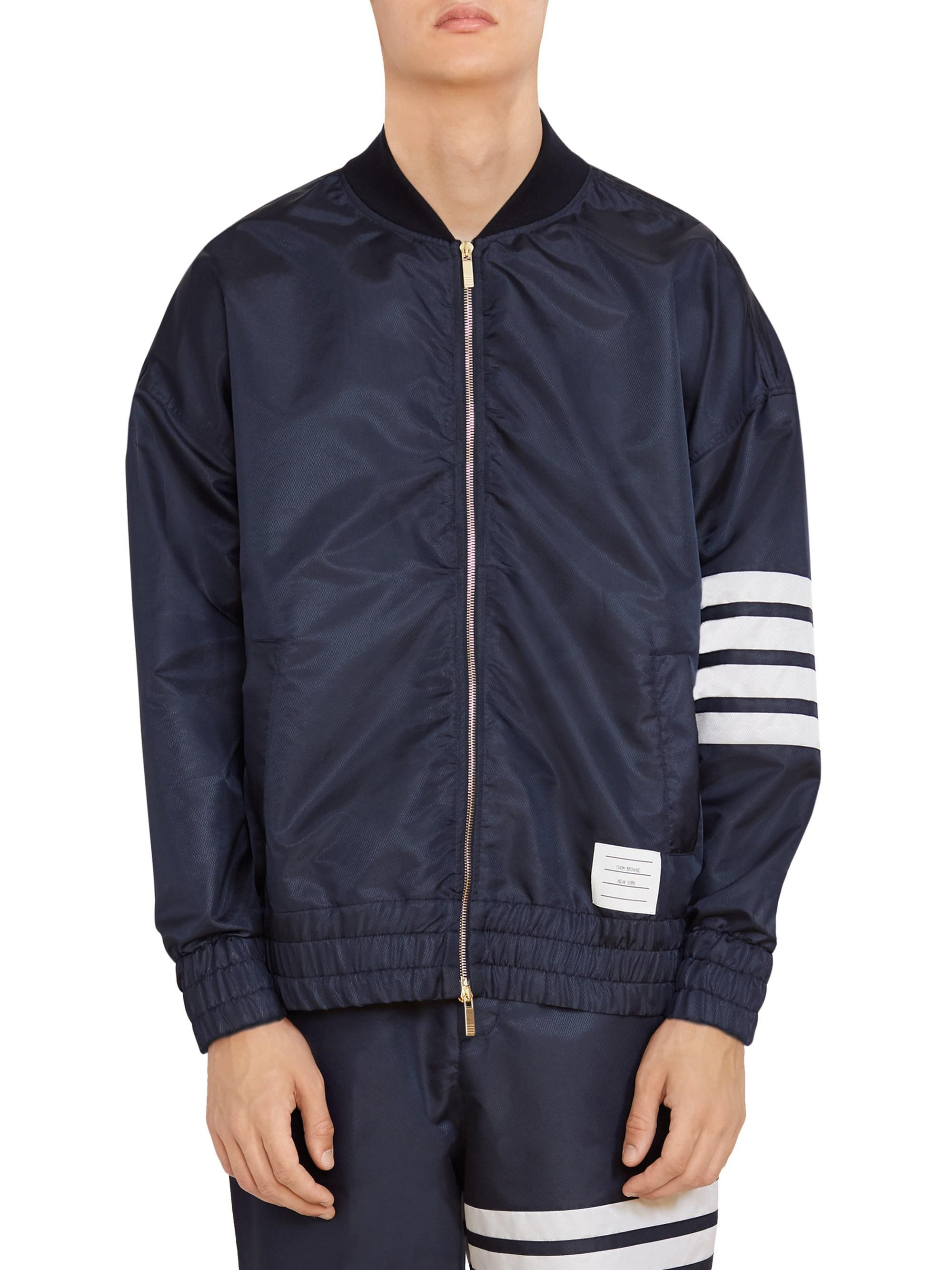 c3dd8b1ebf8 Lyst - Thom Browne Oversized Back Vent Bomber Jacket in Blue for Men