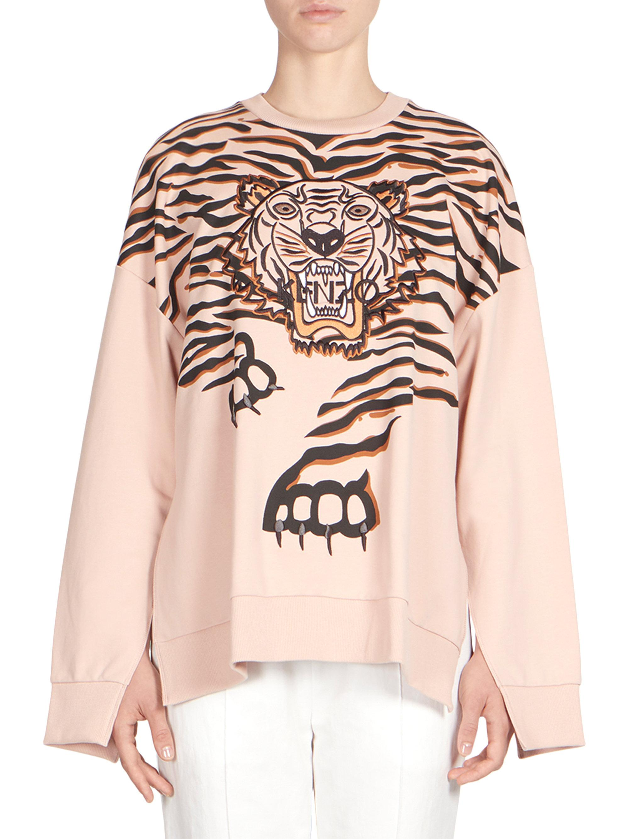 9e68a16622 Kenzo Tiger Claw Graphic Sweatshirt in Pink - Lyst