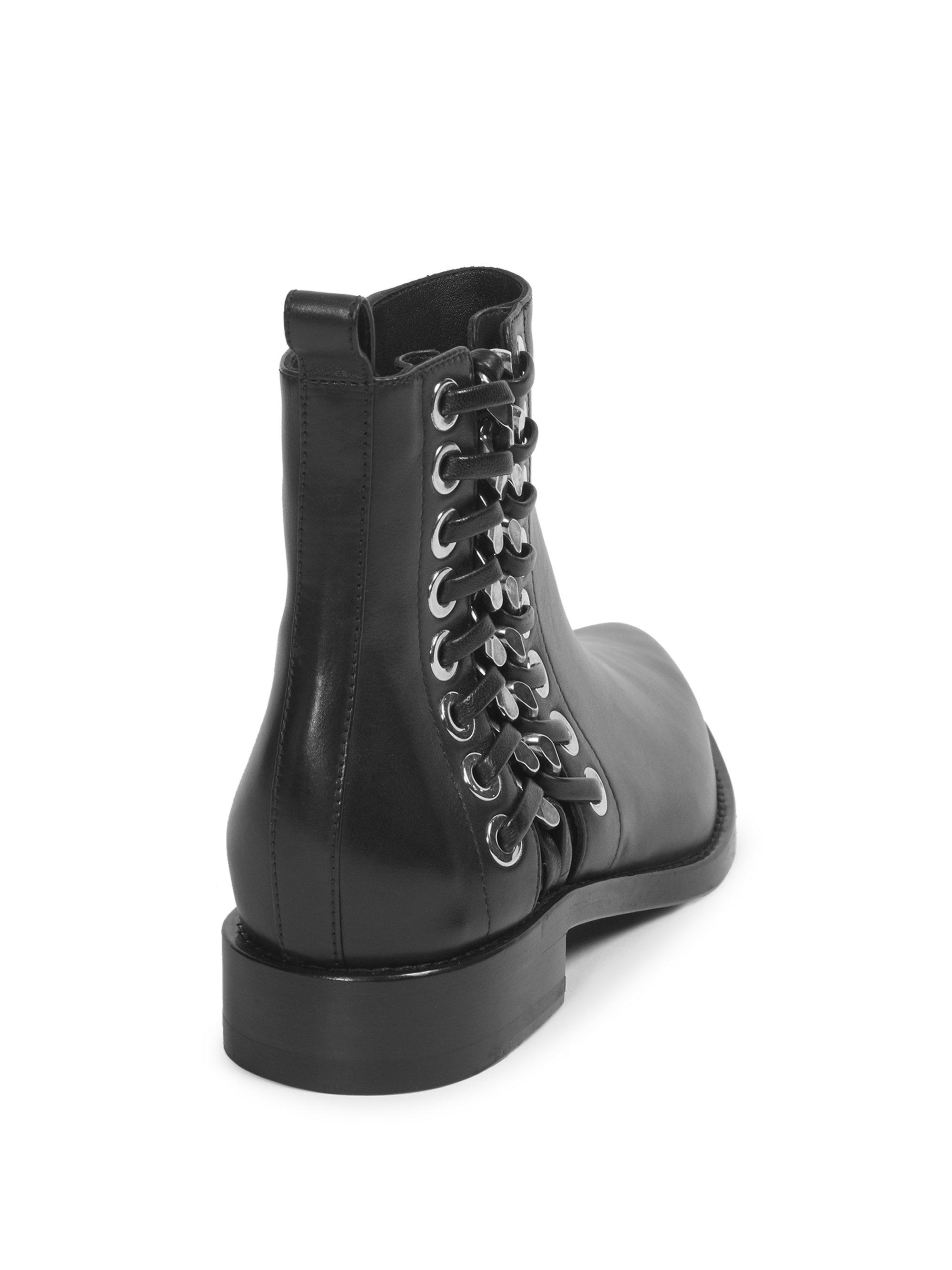 Alexander McQueen Side Detail Leather Booties YKmmjpe