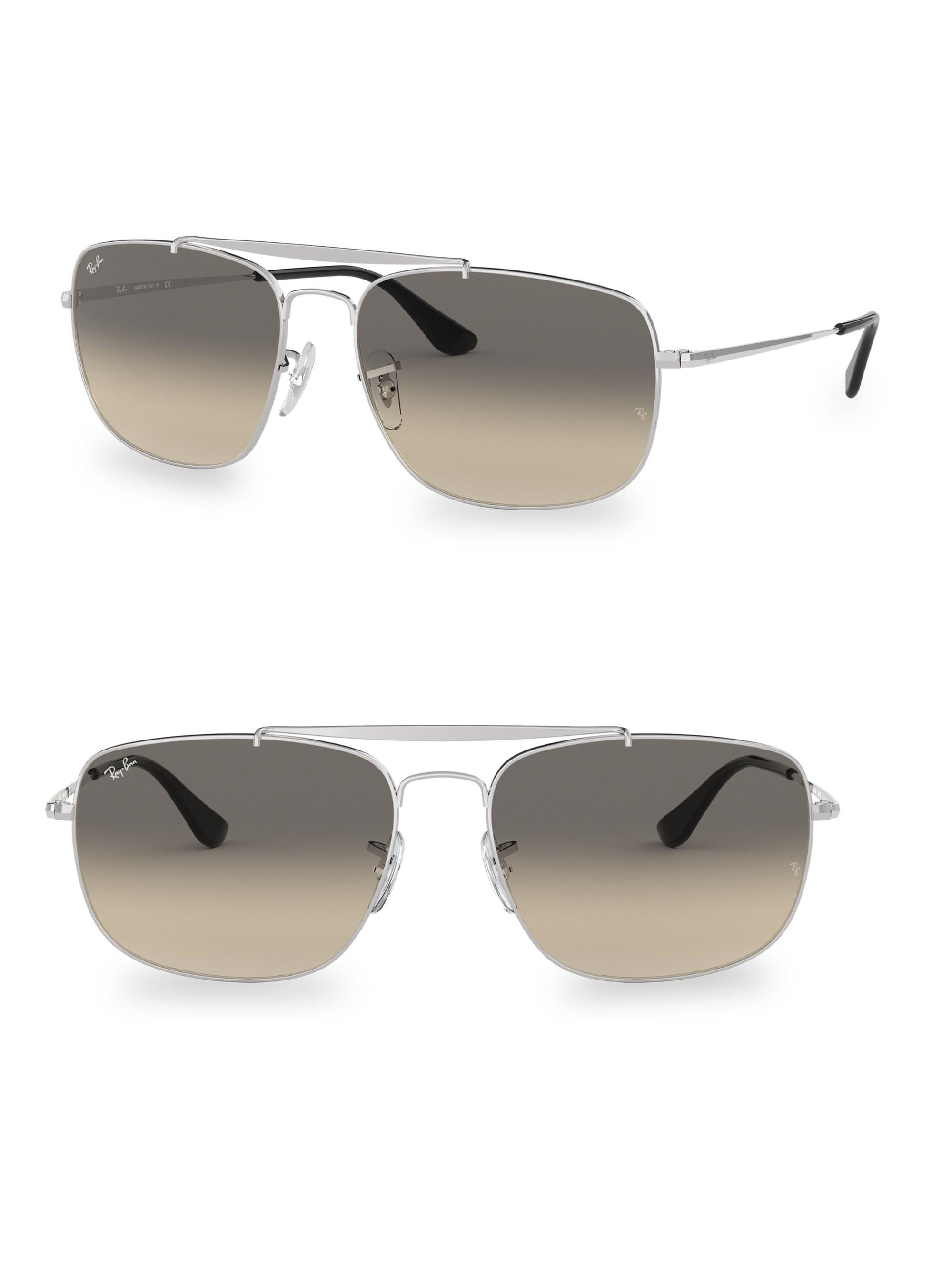e40aca1f42a Lyst - Ray-Ban Men s Colonel Aviator Sunglasses - Silver in Metallic ...