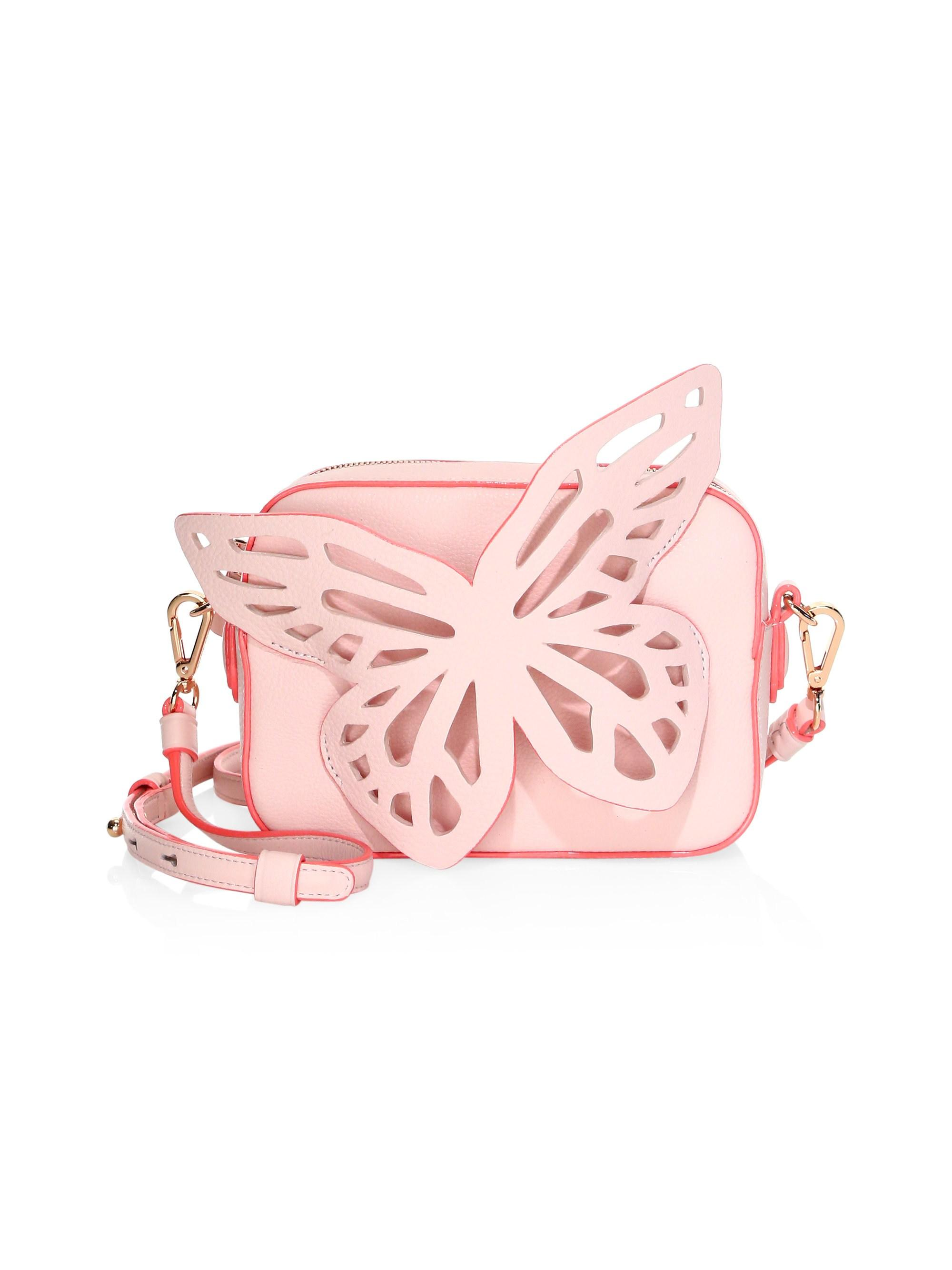 Lyst - Sophia Webster Flossy Butterfly Leather Camera Bag in Pink ... db0beff649902