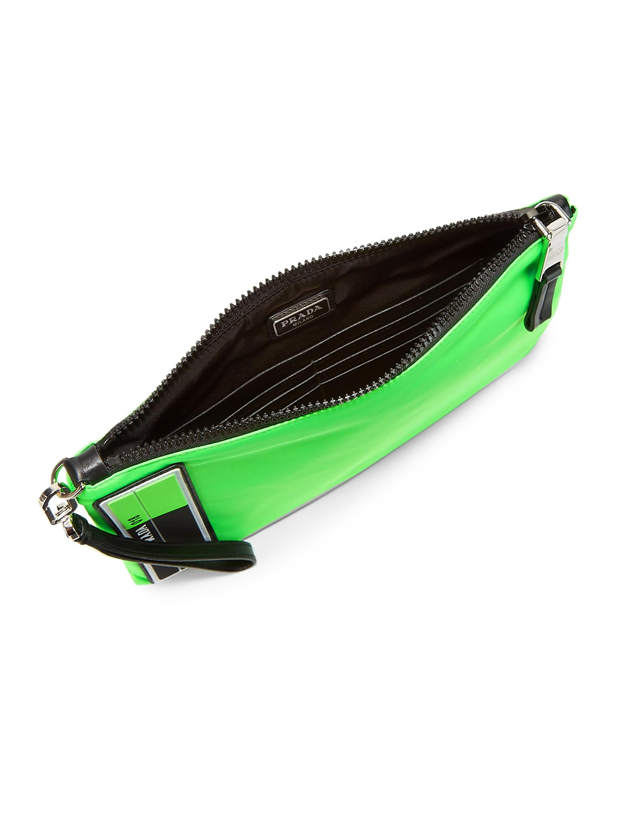 fd9024fda20e Prada - Multicolor Men's Tessuto Medium Neon Pouch - Verde Fluo for Men -  Lyst. View fullscreen