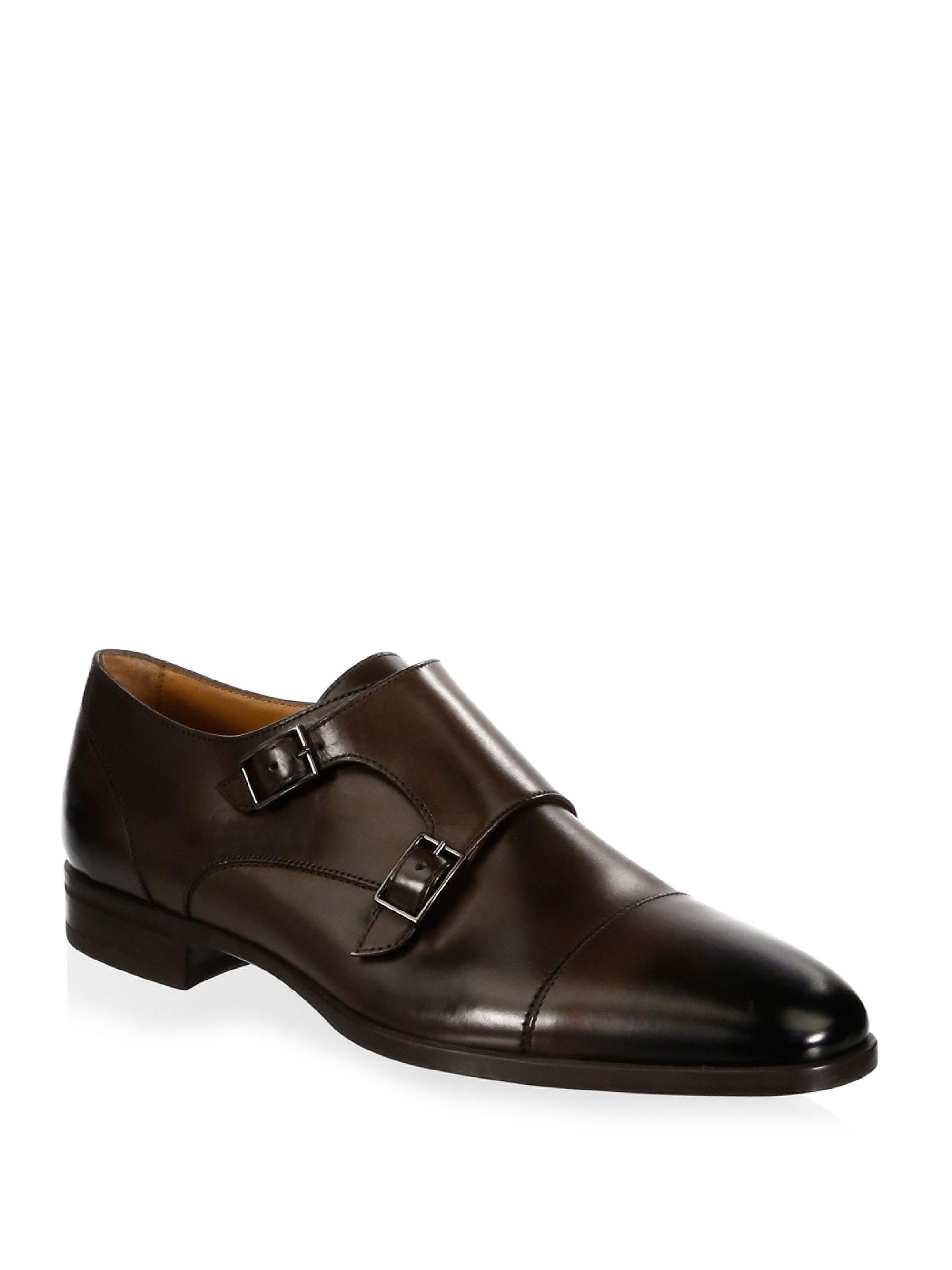HUGO BOSSKensington Leather Double Monk-Strap Shoes