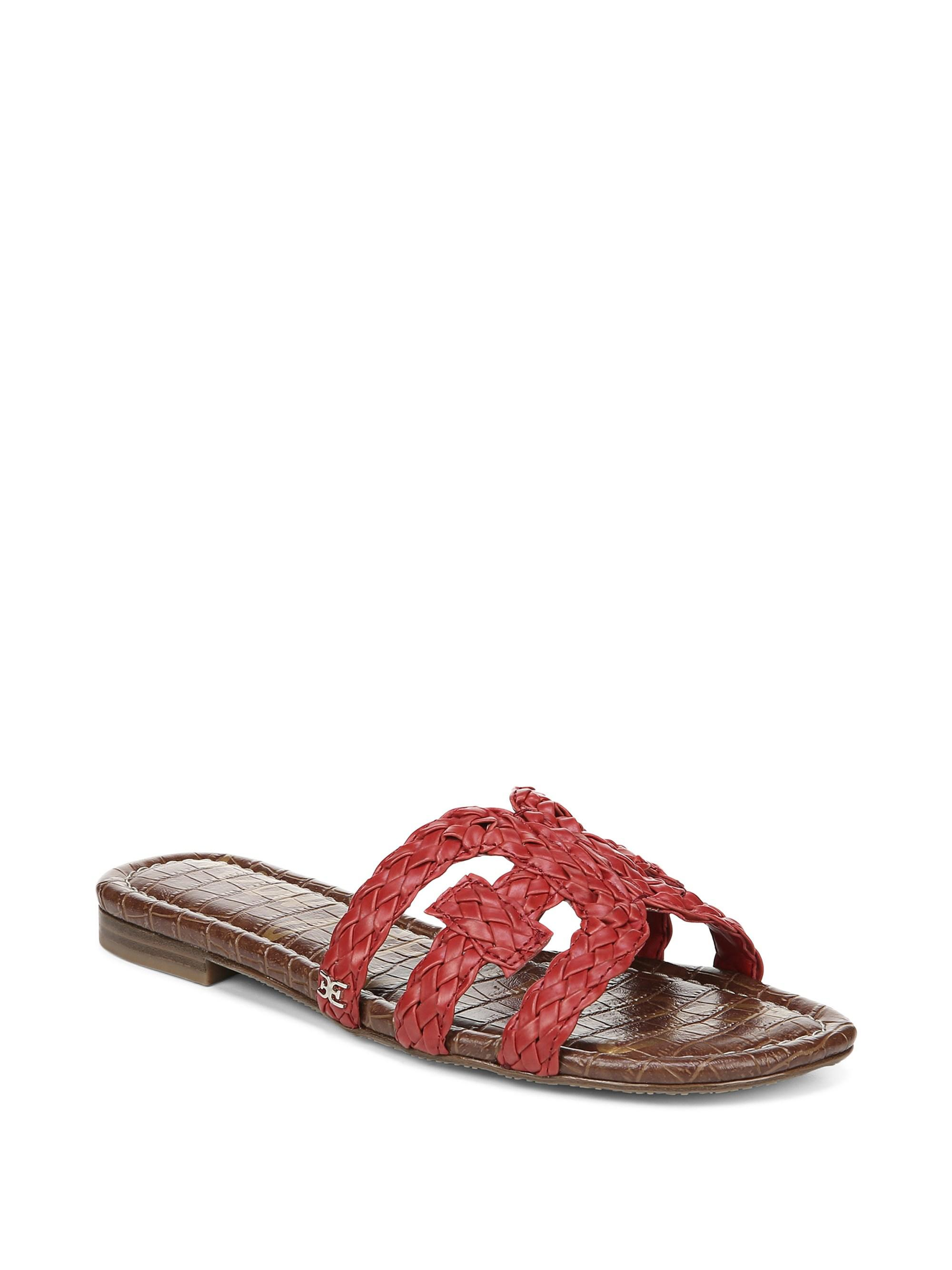 c80f75ecbc3174 Lyst - Sam Edelman Beckie Woven Leather Sandals in Red