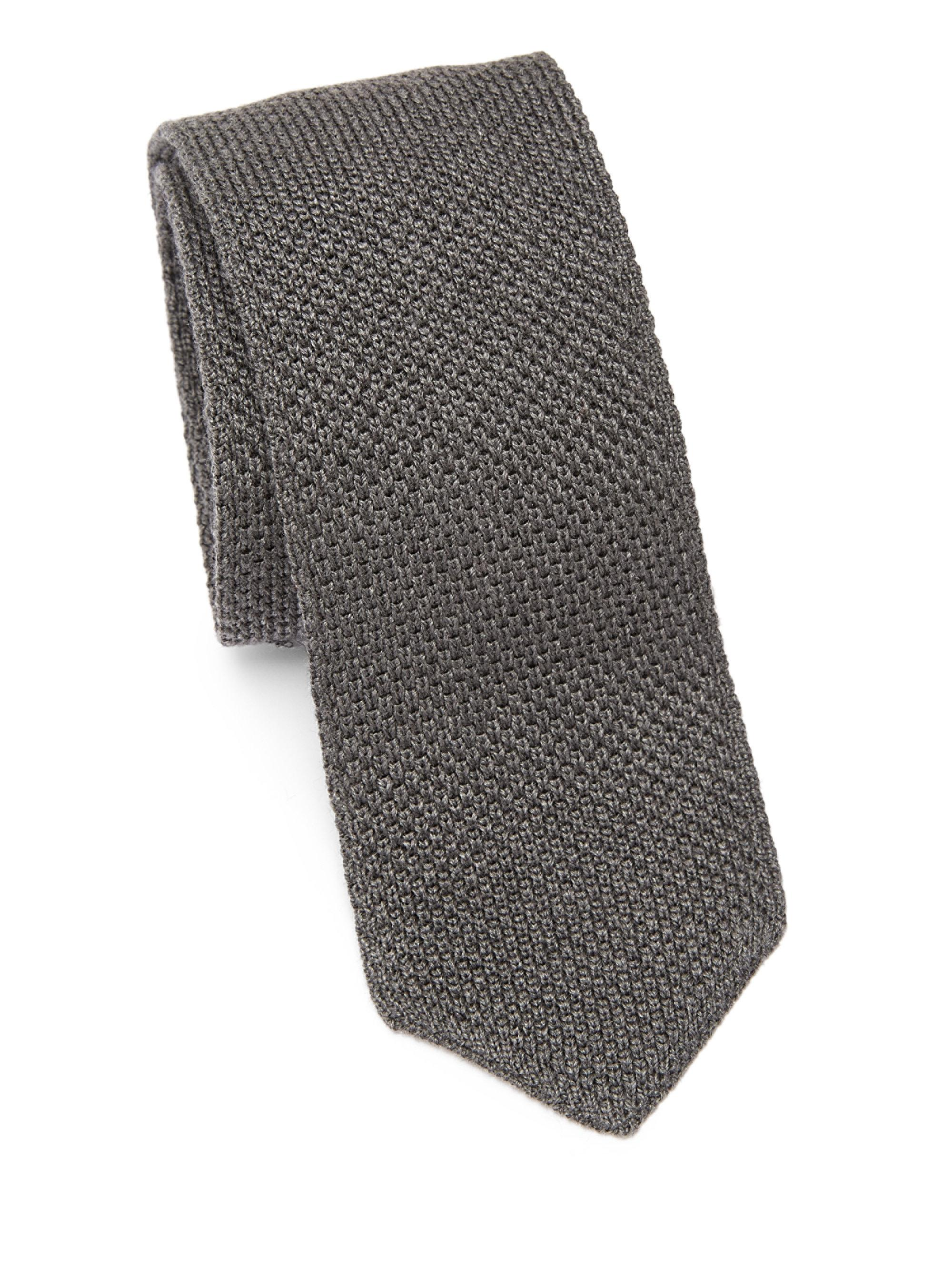 Tie grey patterned Brunello Cucinelli Limited upb1QGpo
